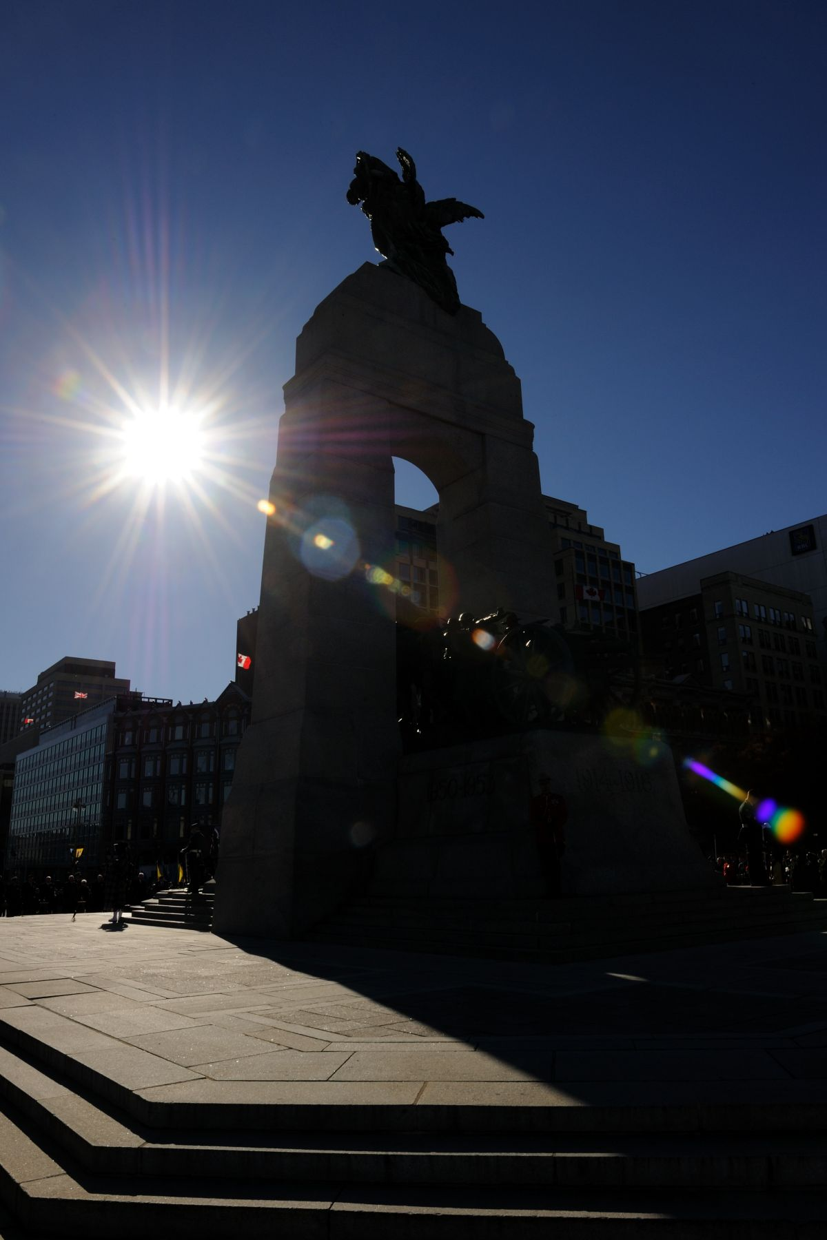 The National War Memorial, where the National Remembrance Day Ceremony takes place every year, was inaugurated in Ottawa in 1939.
