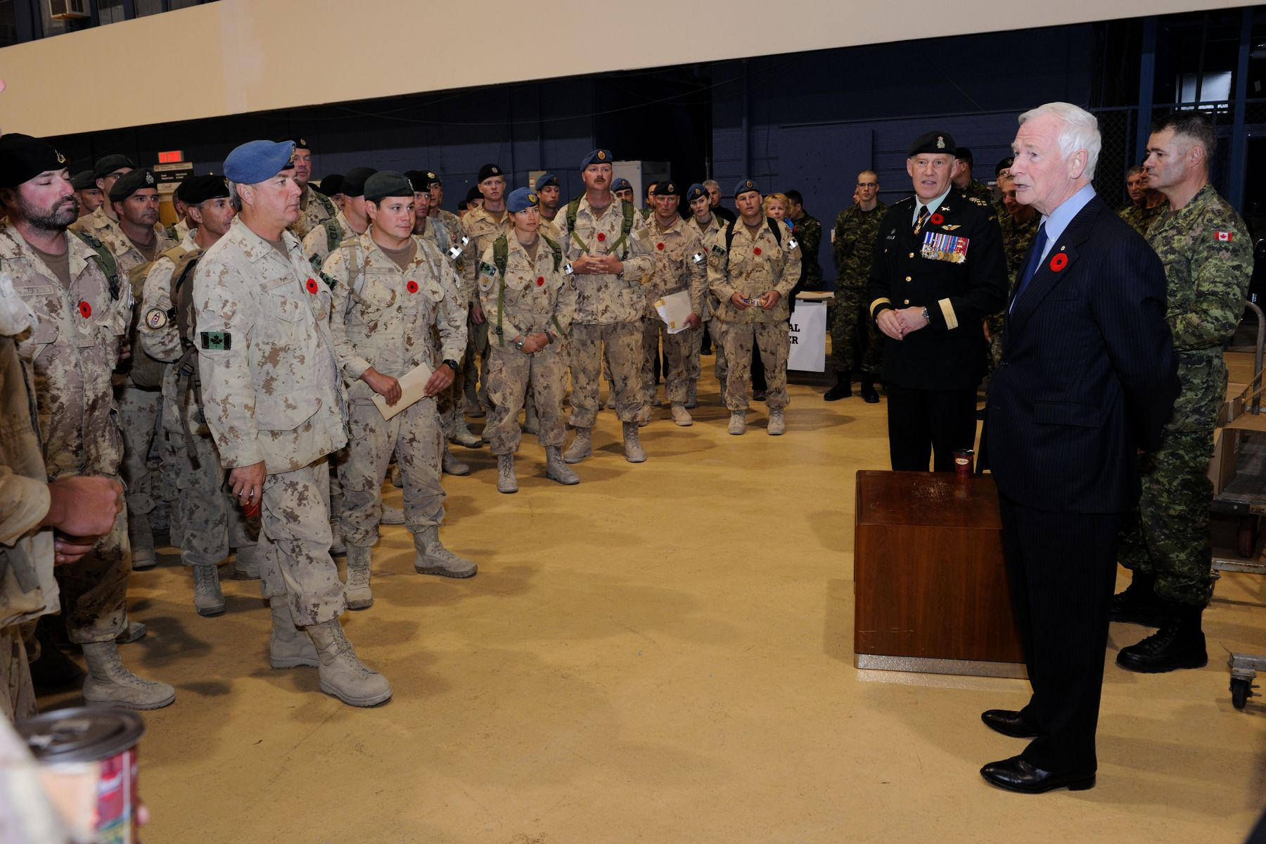 The Governor General took the time to address all returning members of the Canadian Forces.
