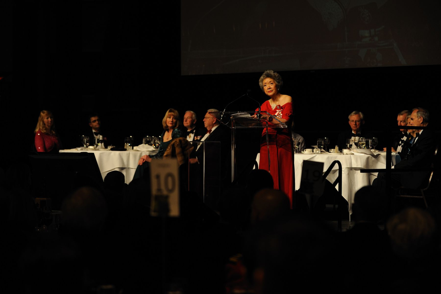 The Right Honourable Adrienne Clarkson addressed the crowd.
