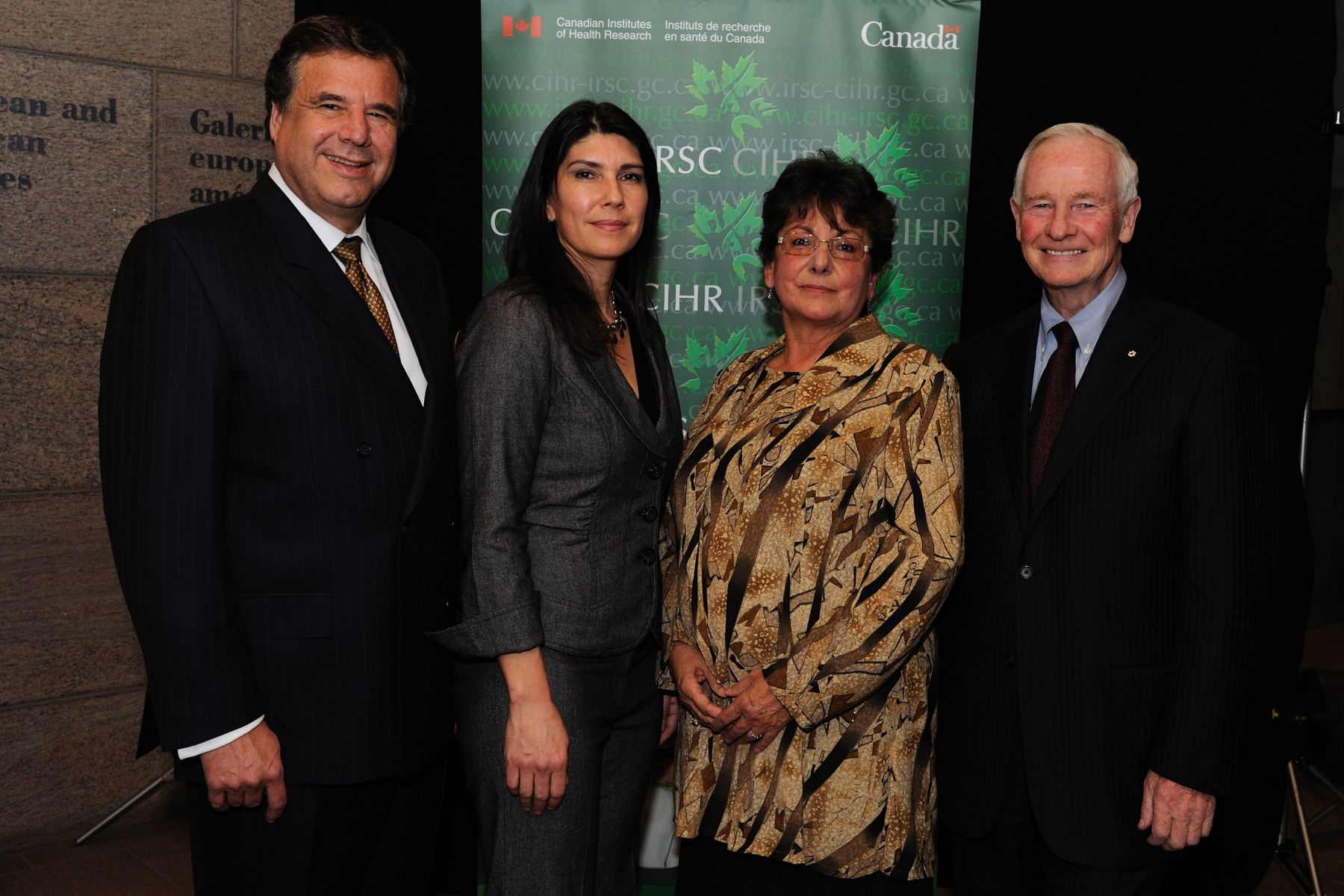 His Excellency and Dr. Beaudet with representatives from the Kahnawake Schools Diabetes Prevention Program, laureates of the Partnership Award.