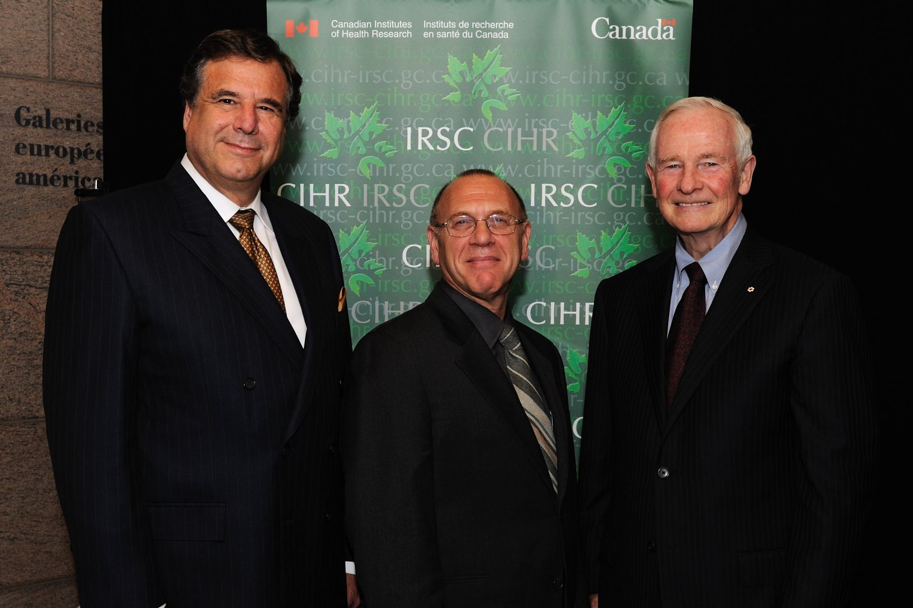 His Excellency and Dr. Beaudet with Dr. Clyde Hertzman (middle), laureate of the Researcher of the Year in Canada Award.