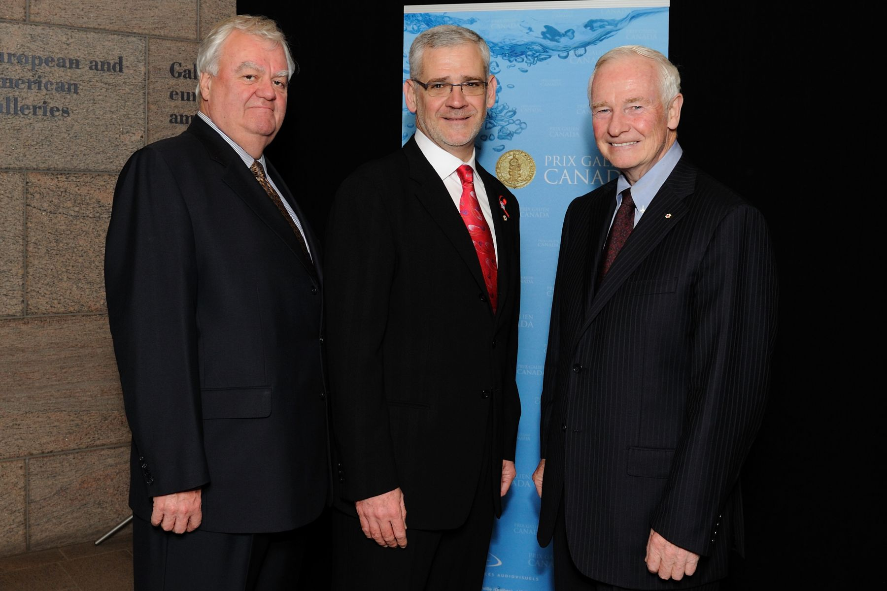 His Excellency and Dr. Gagné with Dr. Julio Montaner, laureate of the Prix Galien Research.