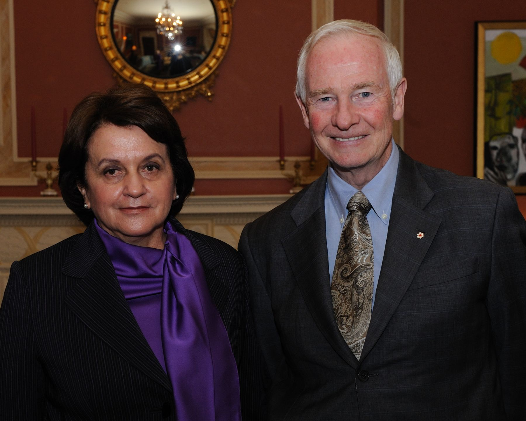 The Governor General received the credentials of Her Excellency Clemencia Forero Ucrós, Ambassador of the Republic of Colombia.