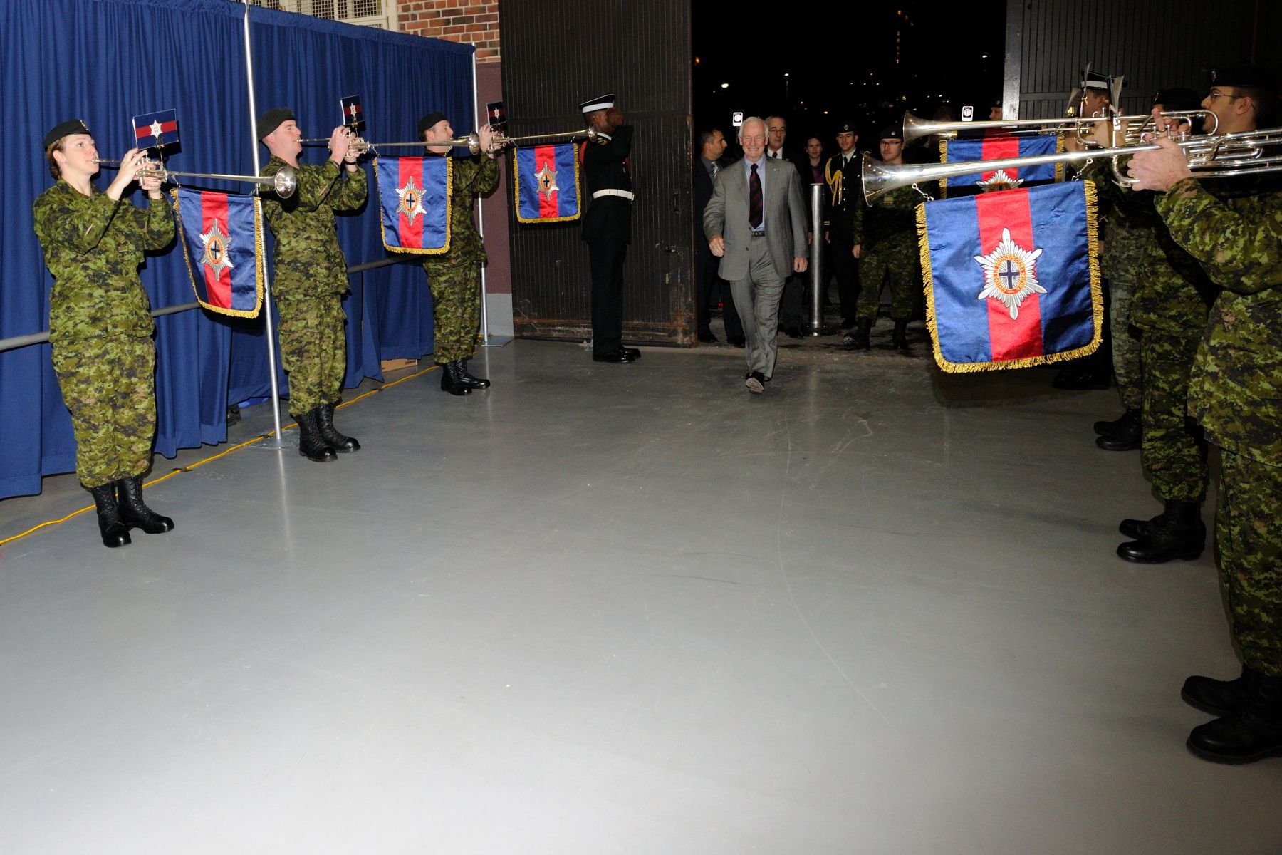 As colonel of the Governor General's Foot Guards (GGFG), His Excellency the Right Honourable David Johnston, Governor General and Commander-in-Chief of Canada, visited with members of the regiment at Cartier Square Drill Hall, in Ottawa, on November 26, 2010.