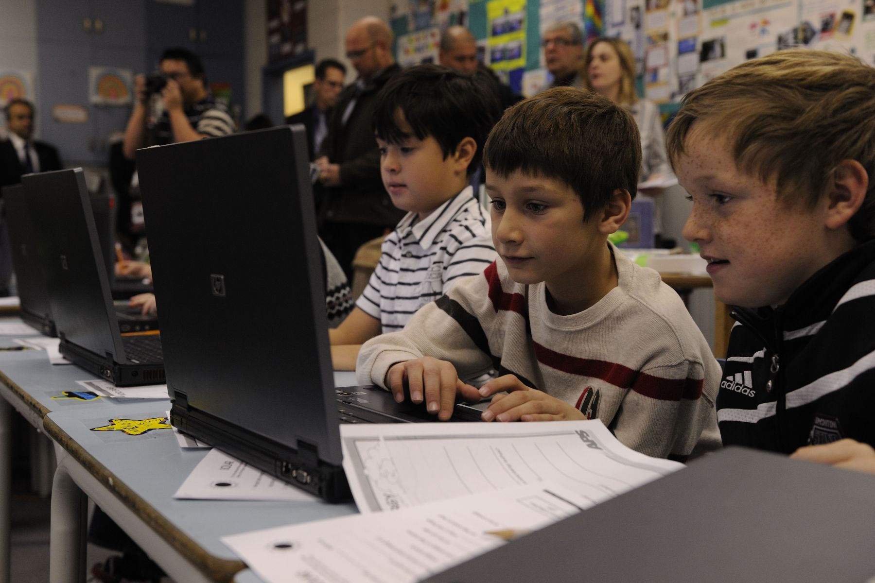 Students also use computers to improve their learning methods.
