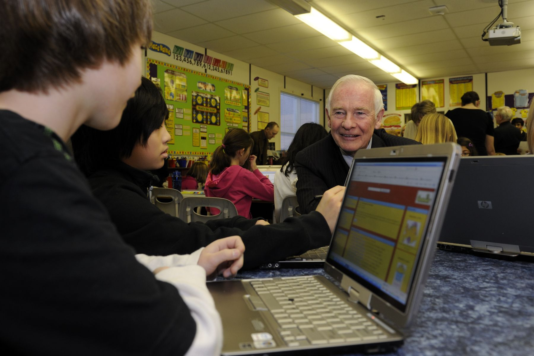 The Governor General took the time to speak with students on the importance of education.