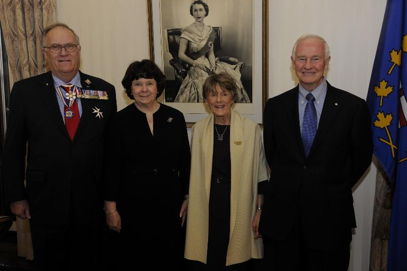 During their official visit to Alberta, Their Excellencies the Right Honourable David Johnston, Governor General of Canada, and Mrs Sharon Johnston met with Their Honours the Honourable Donald S. Ethell, Lieutenant Governor of Alberta, and Mrs. Linda May Ethell.