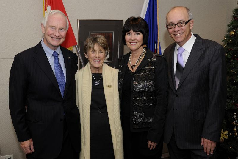 Their Excellencies the Right Honourable David Johnston, Governor General of Canada, and Mrs. Sharon Johnston met with His Worship Stephen Mandel, Mayor of Edmonton, and Mrs. Lynn Mandel at City Hall.