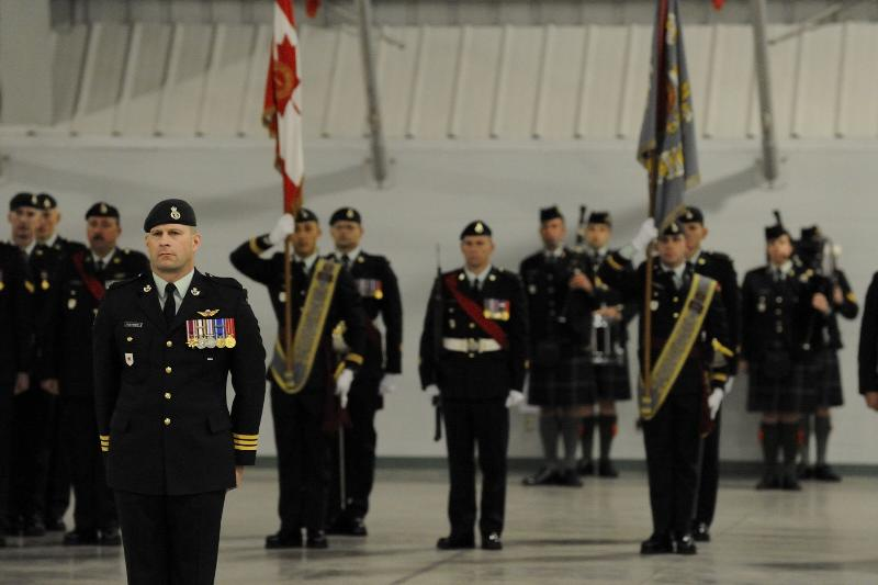The Governor General of Canada visited the Canadian Forces Base in Edmonton to present the Commander-in-Chief Unit Commendation to the 1st Battalion of the Princess Patricia's Canadian Light Infantry (PPCLI) Battle Group.