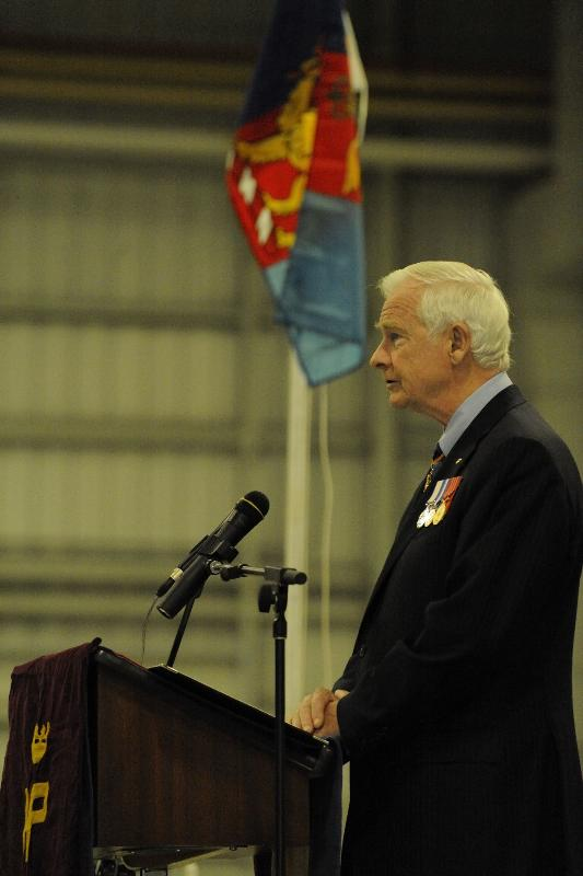 "His Excellency delivered an address to the Battalion: ""On behalf of all Canadians, I thank you for your devotion to duty, for your enduring service and for your professionalism in the field. I am now honoured to present the Commander-in-Chief's Unit Commendation to the 1st Battalion of Princess Patricia's Canadian Light Infantry Battle Group. Congratulations."""