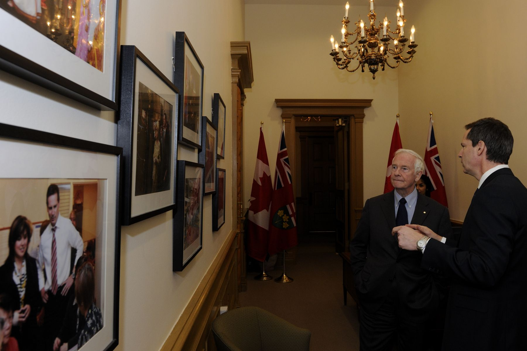 Following the official welcoming ceremony, Their Excellencies met with the Honourable Dalton McGuinty, Premier of Ontario, in his office at Queen's Park.
