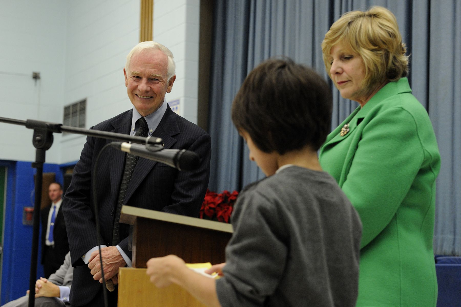 Many students had the opportunity to ask questions to the Governor General of Canada.