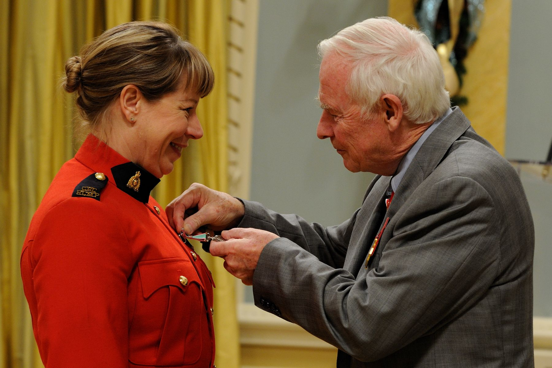 RCMP Corporal Jennifer J. Turner received the Operational Service Medal for her work in Sierra Leone.