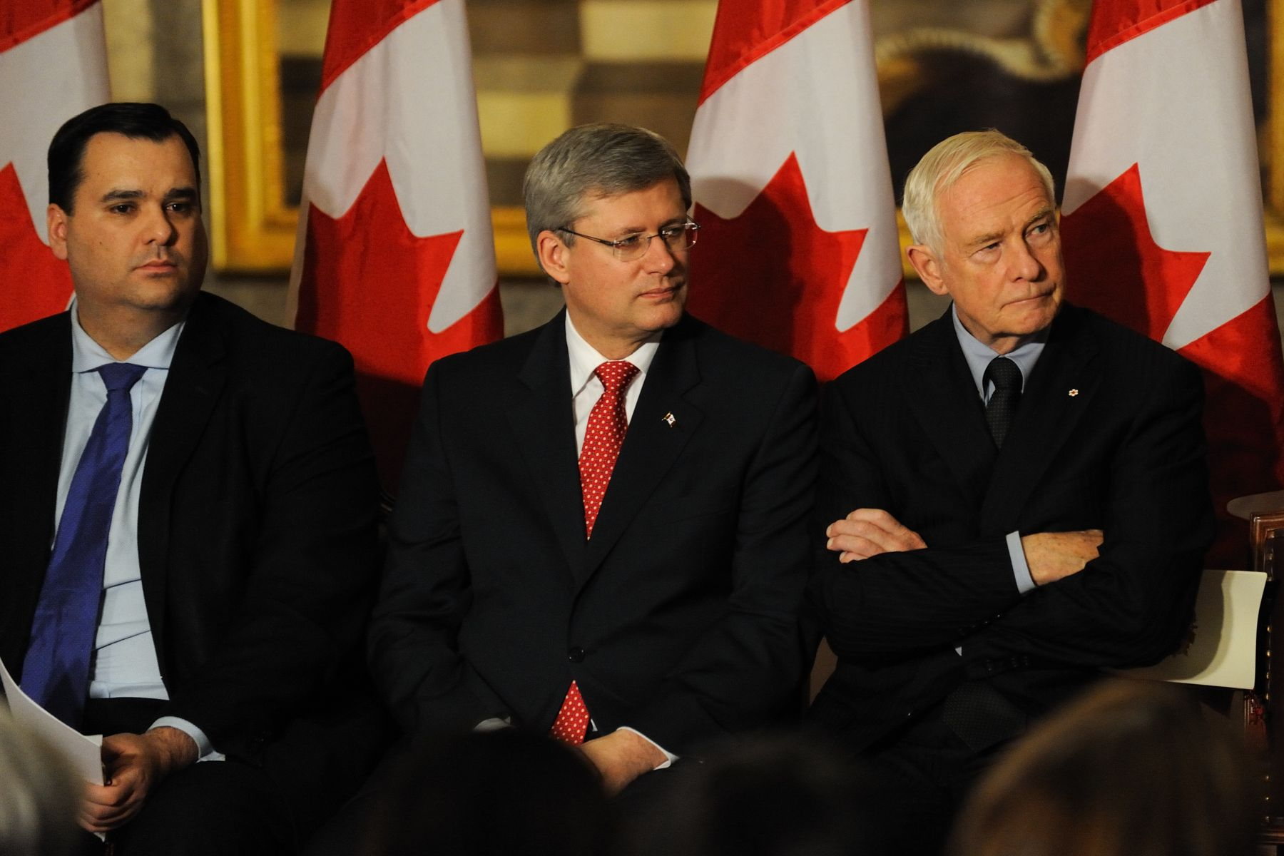 The Governor General was joined by the Right Honourable Stephen Harper and the Honourable James Moore, Minister of Canadian Heritage and Official Languages.