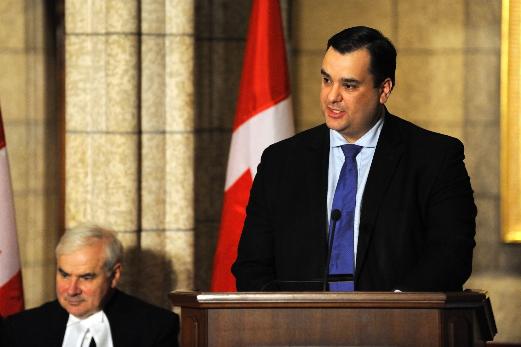 Canadian Heritage and Official Languages Minister James Moore also said a few words.