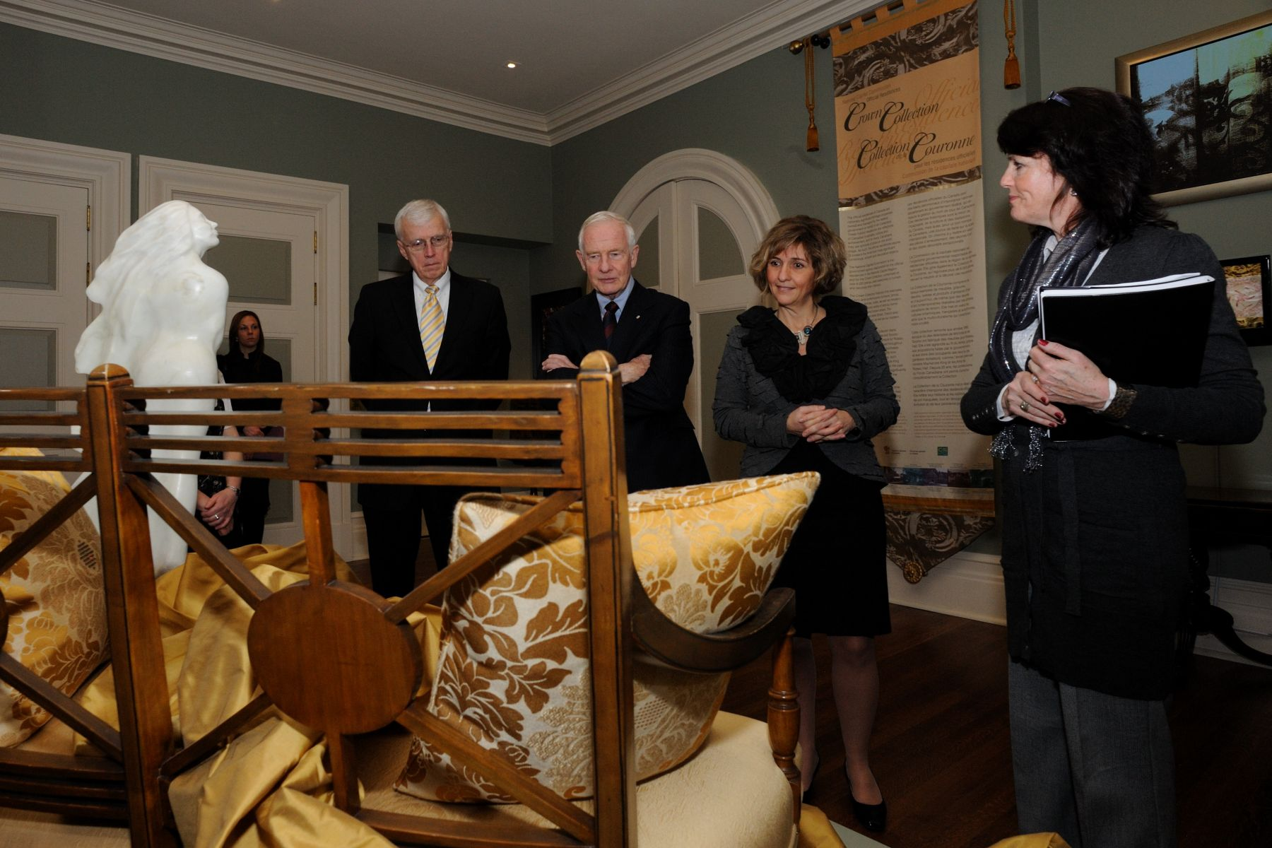 The temporary exhibition is open to the public until March 2011, in the Ambassador's Room, at Rideau Hall. This exhibition is part of the guided tour of Rideau Hall. Please call 1-866-842-4422 for reservations.