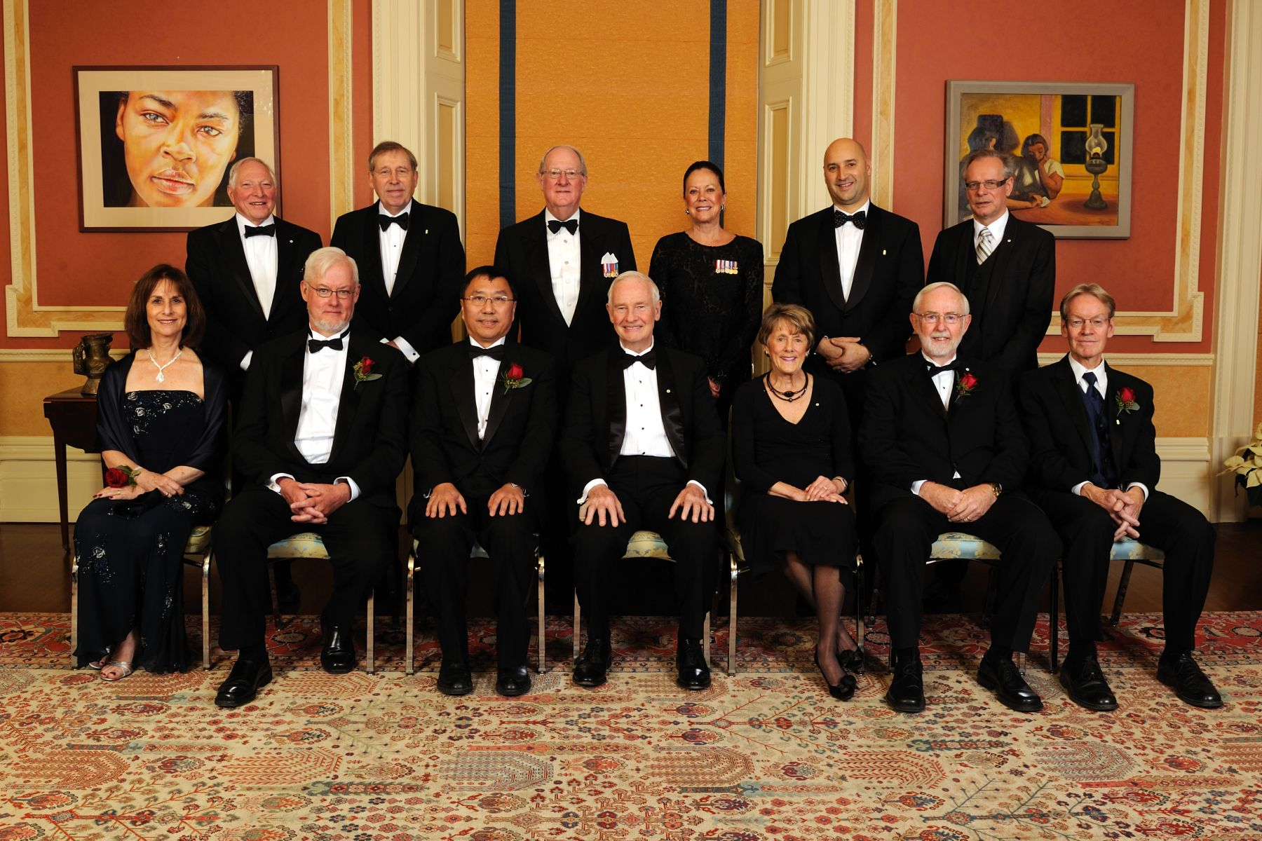 Official photo of Their Excellencies with the 2010 Killam Prizes recipients.