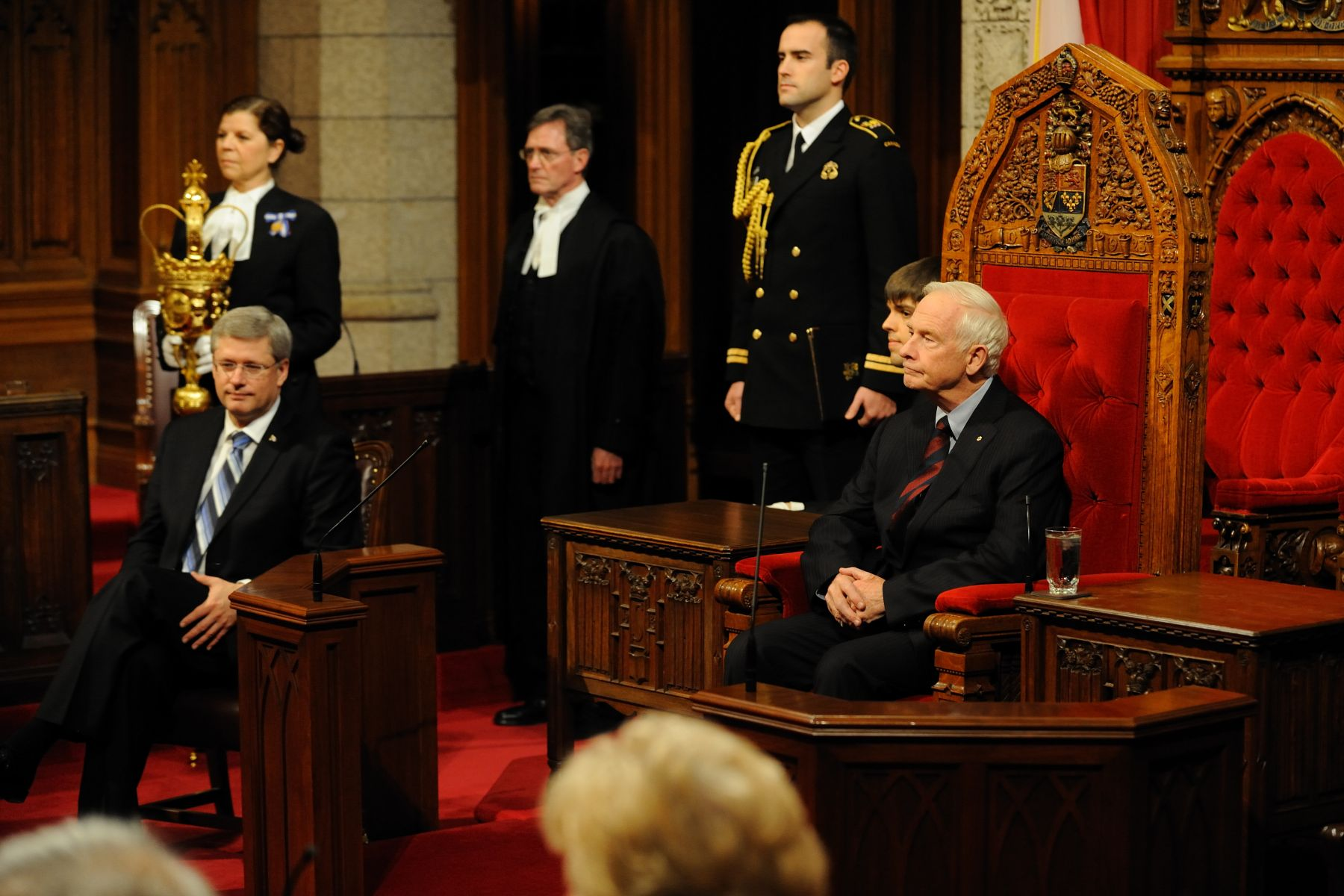 His Excellency the Right Honourable David Johnston, Governor General of Canada, granted Royal Assent to bills during a formal ceremony in the Senate Chamber, on December 15, 2010. This was the Governor General's second Royal Assent since his installation ceremony on October 1, 2010. His first royal assent was by written declaration on November 18, 2010.