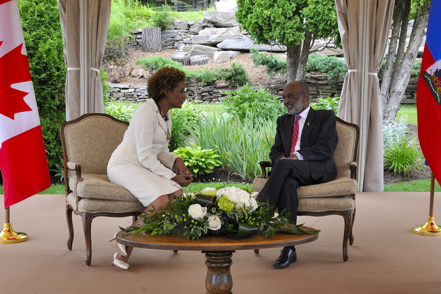 The Governor General met with His Excellency René Préval, President of the Republic of Haiti in Huntsville.