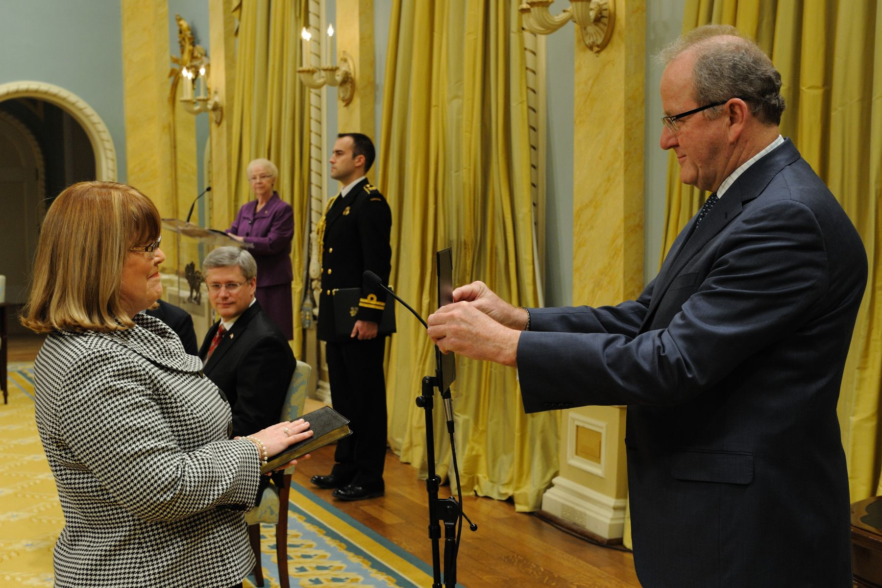The Honourable Diane Ablonczy was sworn-in as Minister of State of Foreign Affairs (Americas and Consular Affairs).