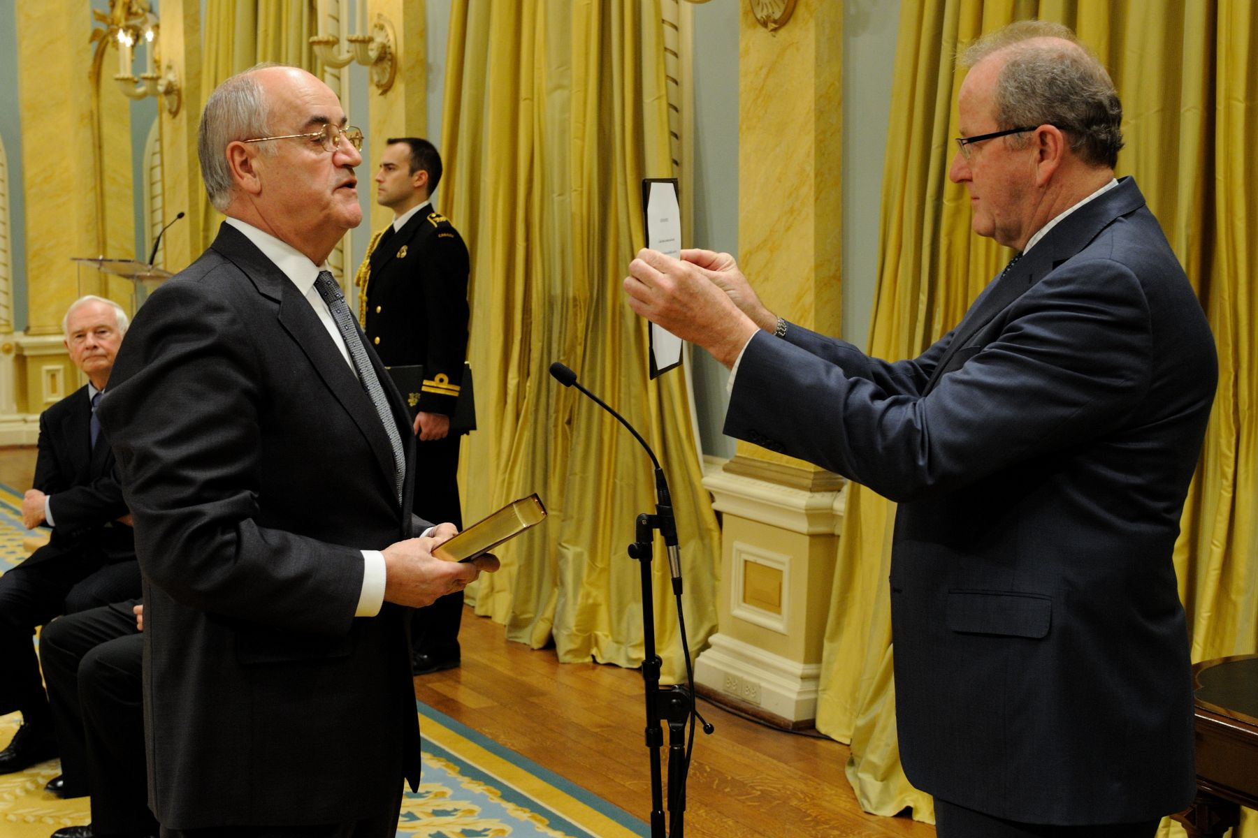 The Honourable Julian Fantino was sworn-in as Minister of State (Seniors).
