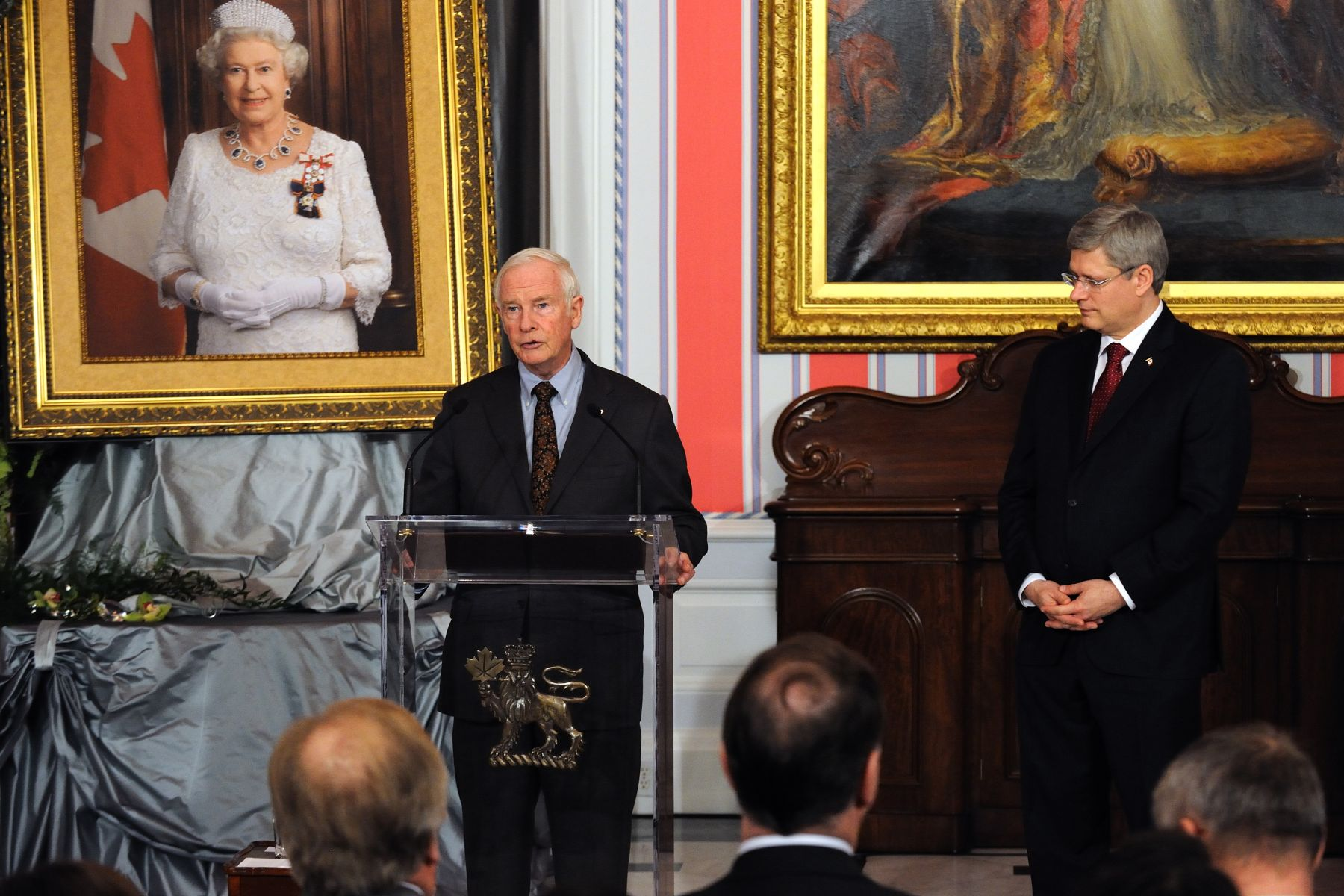 "The governor general delivered remarks: ""This medal is an opportunity to come together as a nation, to celebrate service and to see how we are brought together through action and by the very fact that Canada's heritage is forever linked to the Crown."""