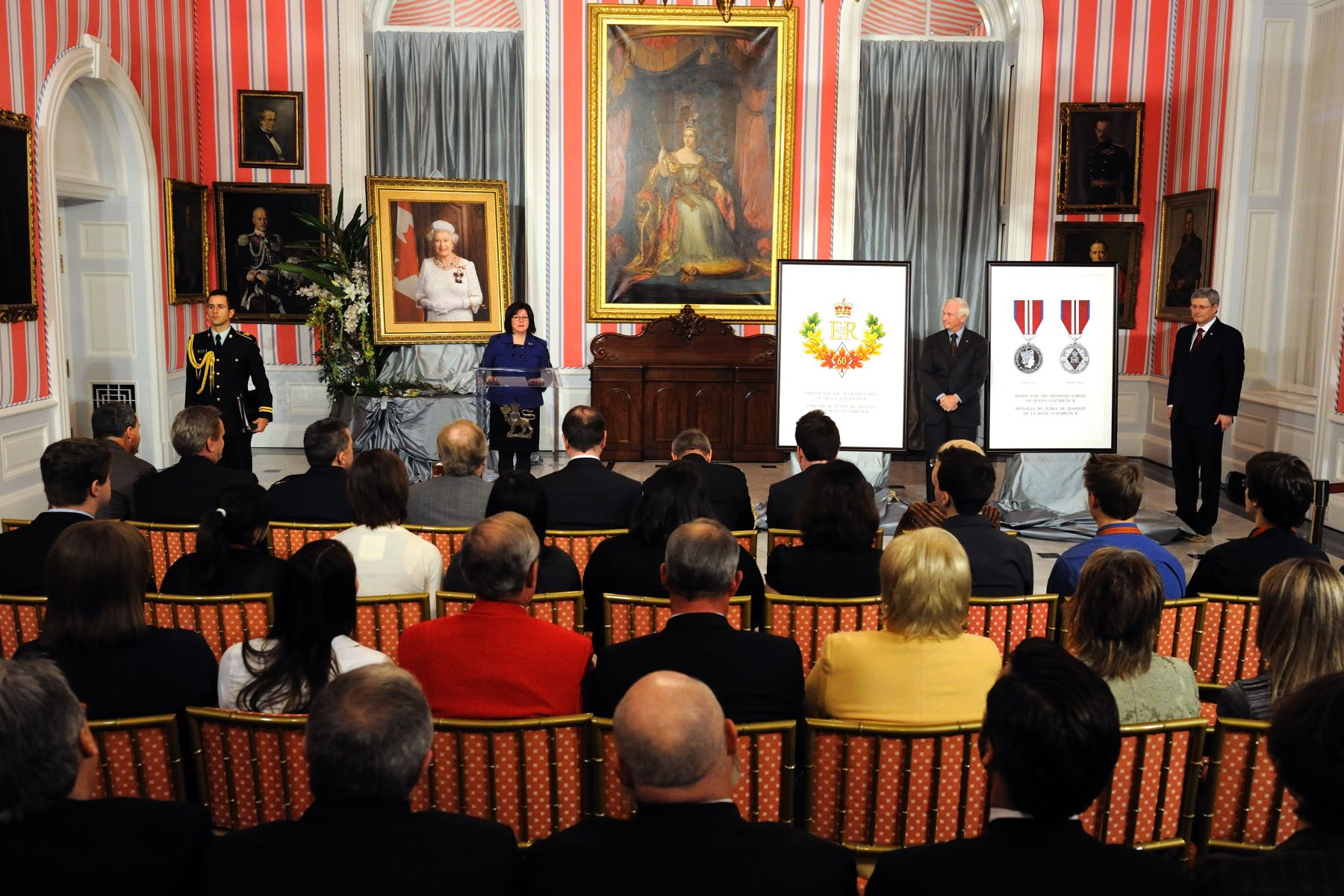 The Queen Elizabeth II Diamond Jubilee Medal will mark the 60th anniversary of Her Majesty's accession to the throne on February 6,  1952, which will be celebrated next year. The medal will serve to honour significant contributions and achievements by Canadians. More information on the medal is available at www.gg.ca/diamondjubilee.