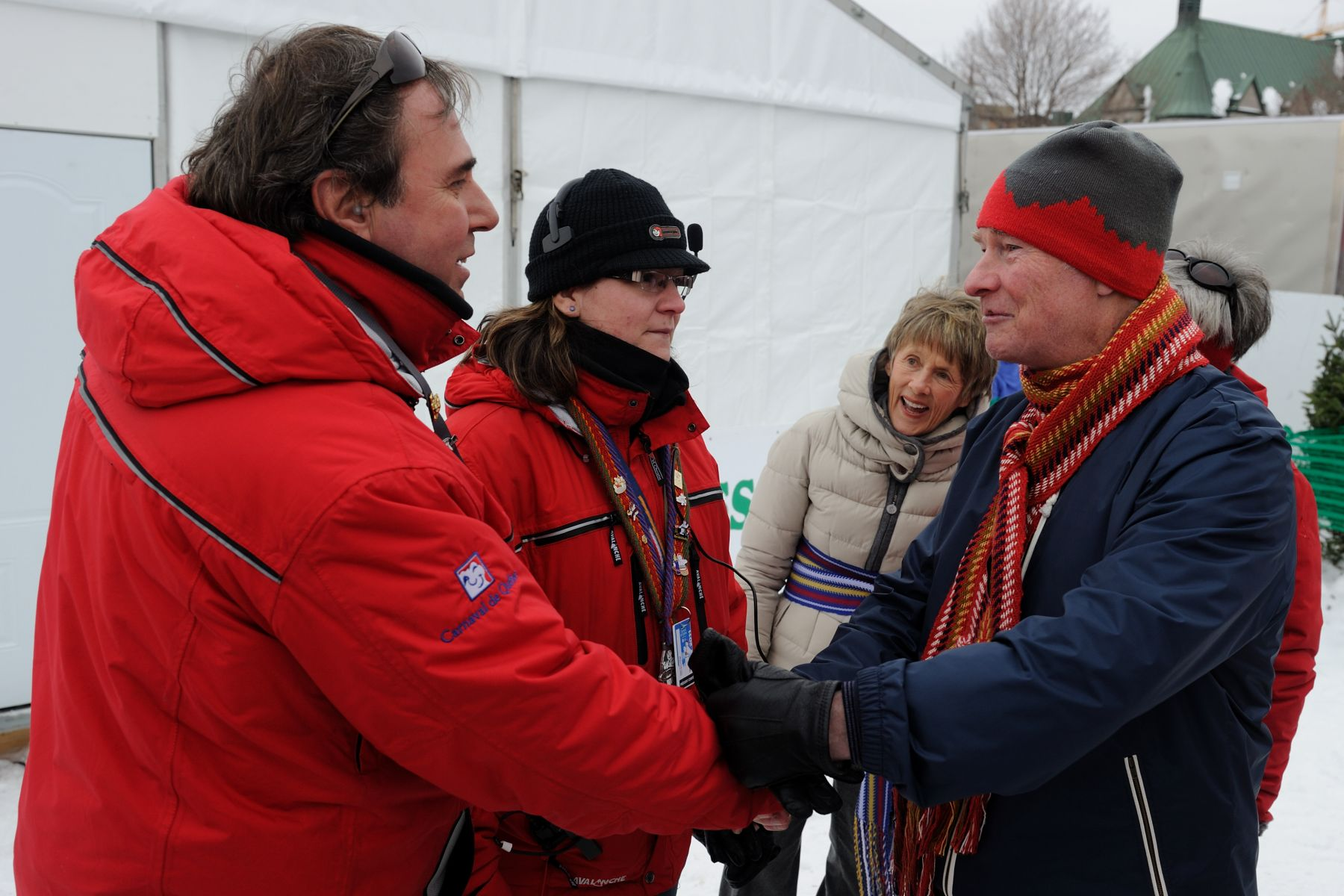 During his visit of the site, the Governor General met with volunteers who are helping to keep the 57th edition of this major winter festival running smoothly.