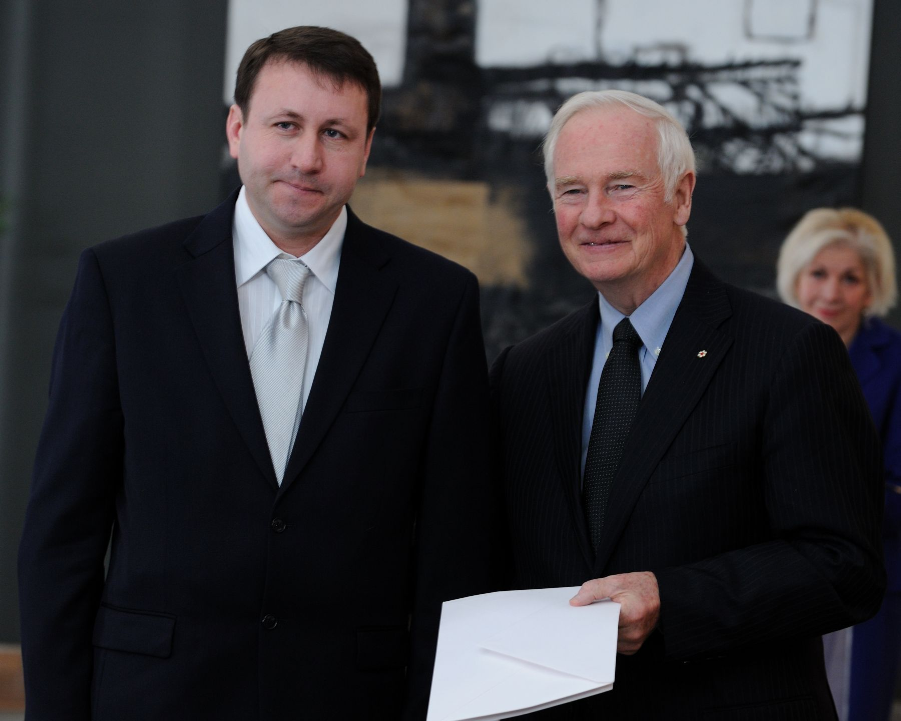 The Governor General received the credentials of His Excellency Igor Munteanu, ambassador of the Republic of Moldova.