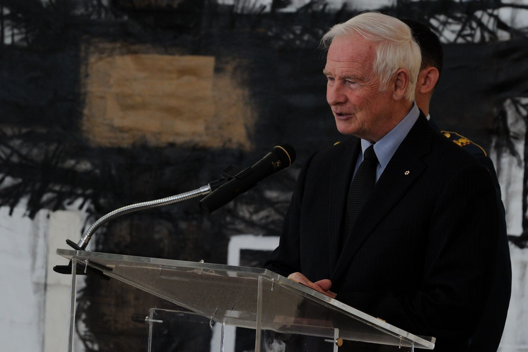 """Fischer's portrayal of Champlain reminds me of what you, as diplomats, do every day. You, too, move in a world of many circles, fostering relationships between those in your countries and mine. You work with people who are often different from yourselves. You facilitate a necessary and important international dialogue with your very presence in our Capital. You inject a measure of friendship, trust and goodwill into critical issues that affect us all. And you help to ensure that each and every one of us can enjoy a more peaceful, secure and prosperous world."""