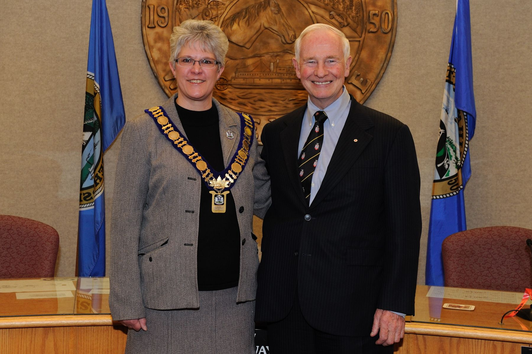 Official photo of His Excellency with Mayor of Whitehorse.