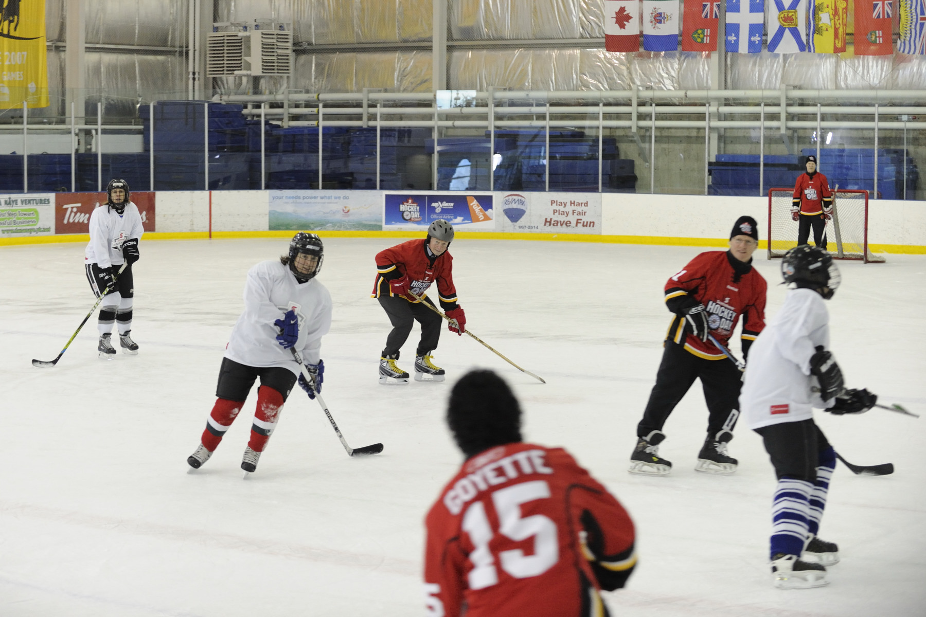 The clinic was held at the Canada Games Centre in Whitehorse.