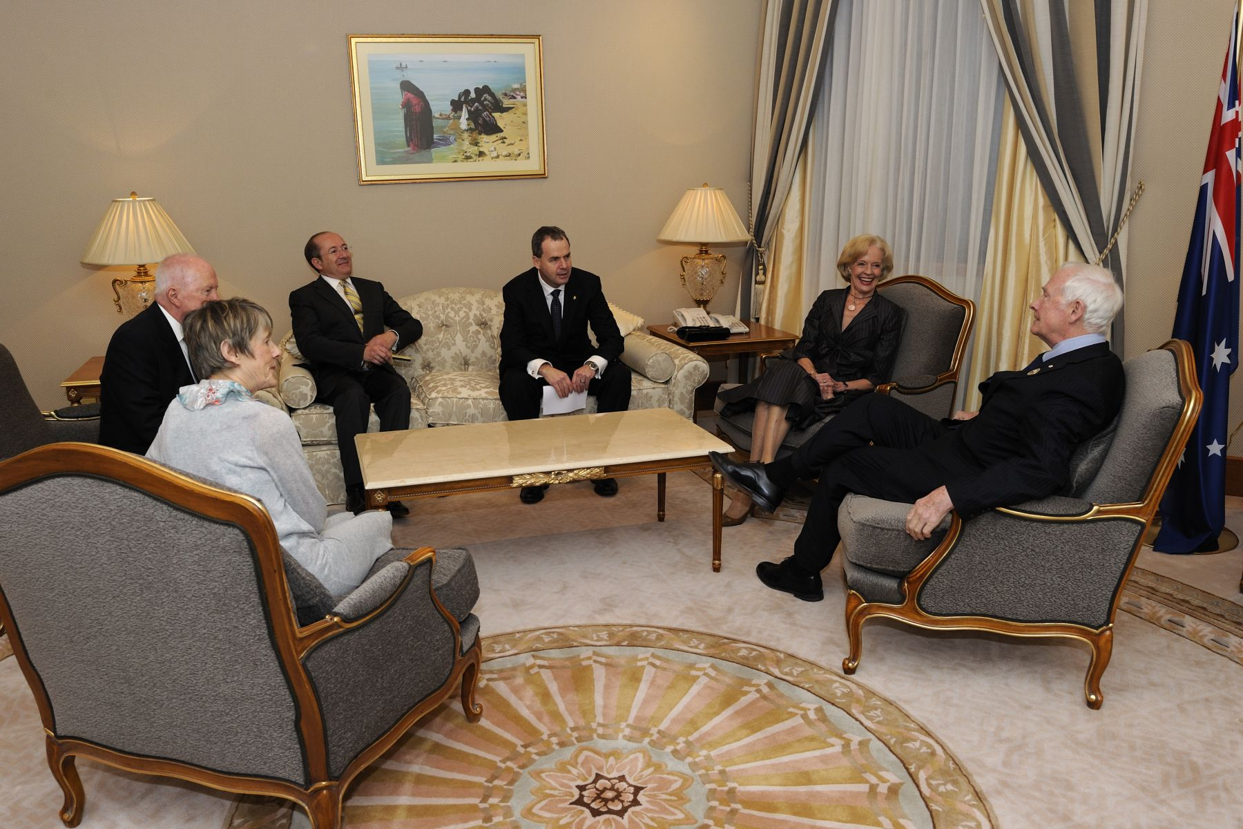 During their visit to Kuwait, Their Excellencies met with Their Excellencies Ms. Quentin Bryce, Governor-General of Australia and Mr. Michael Bryce.