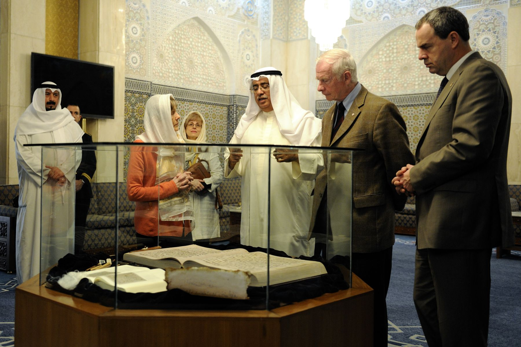 Their Excellencies visited the Grand Mosque in Kuwait City.