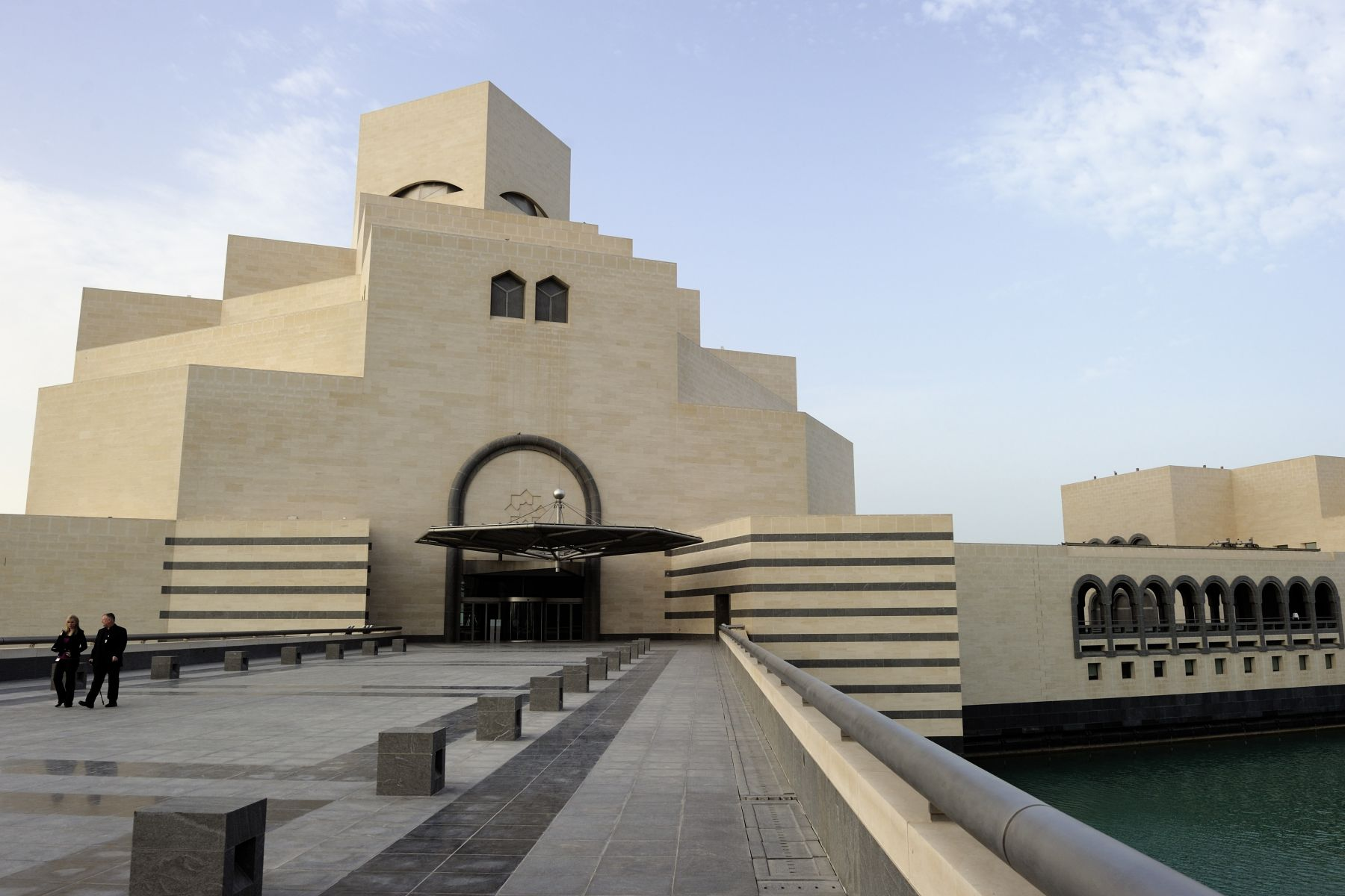 View from outside the Museum of Islamic Art in Doha. Under the umbrella of the Qatar Museums Authority (QMA), the Museum of Islamic Art is the flagship project of His Highness Sheikh Hamad bin Khalifa Al Thani's vision to make it the foremost museum of Islamic art in the world.