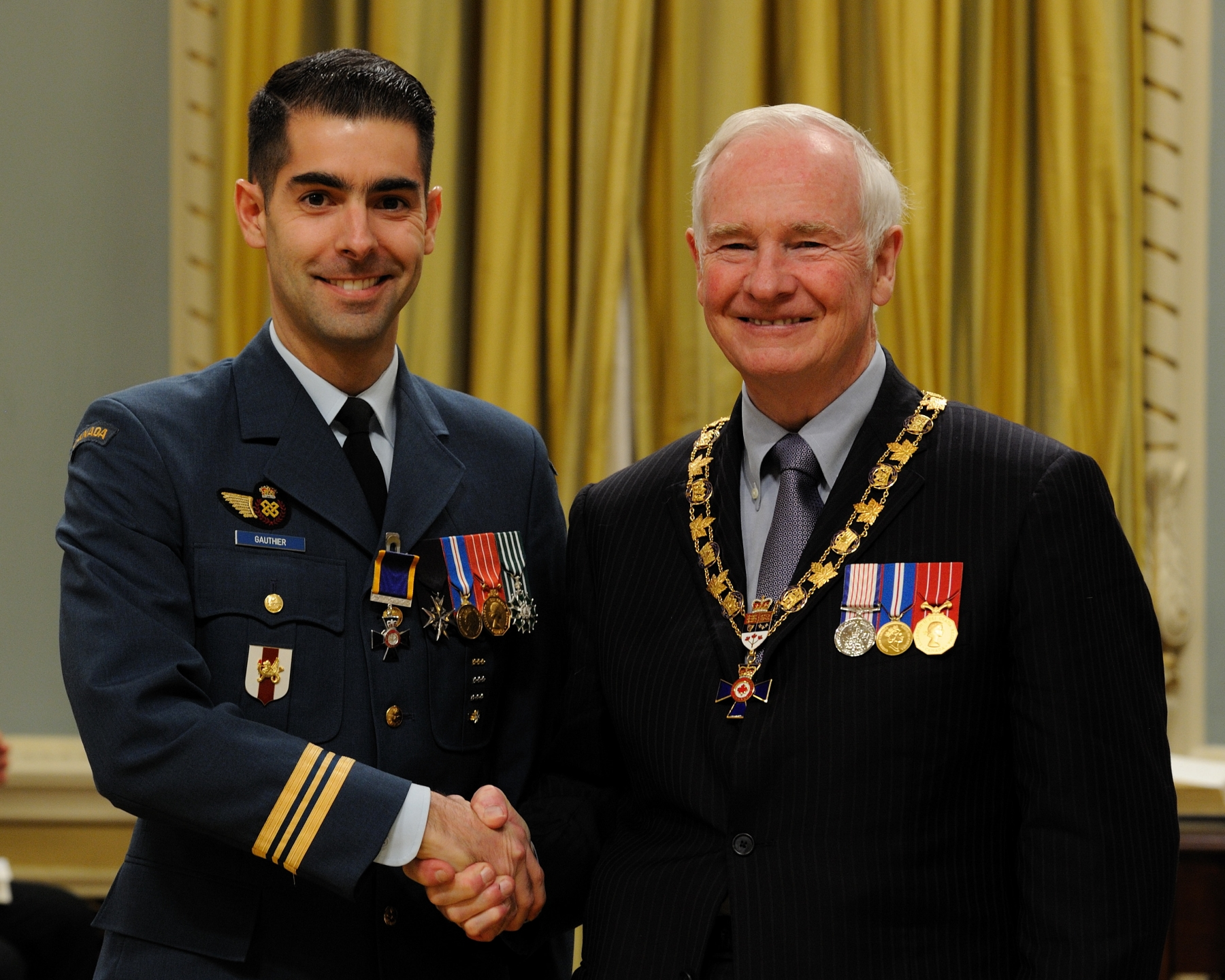 His Excellency presented the Order of Military Merit at the Member level (M.M.M.) to Major Carl Gauthier, M.M.M., C.D., Directorate of Honours and Recognition, Ottawa, Ontario.