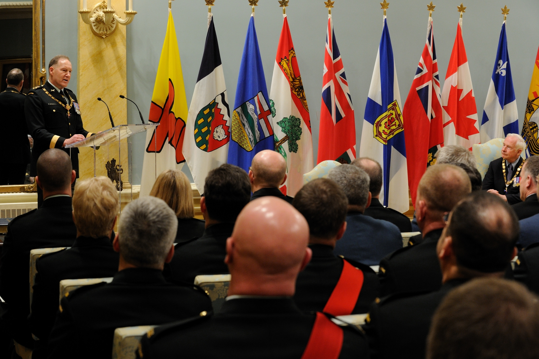 General Walt Natynczyk, Chief of the Defence Staff, also spoke during this ceremony.