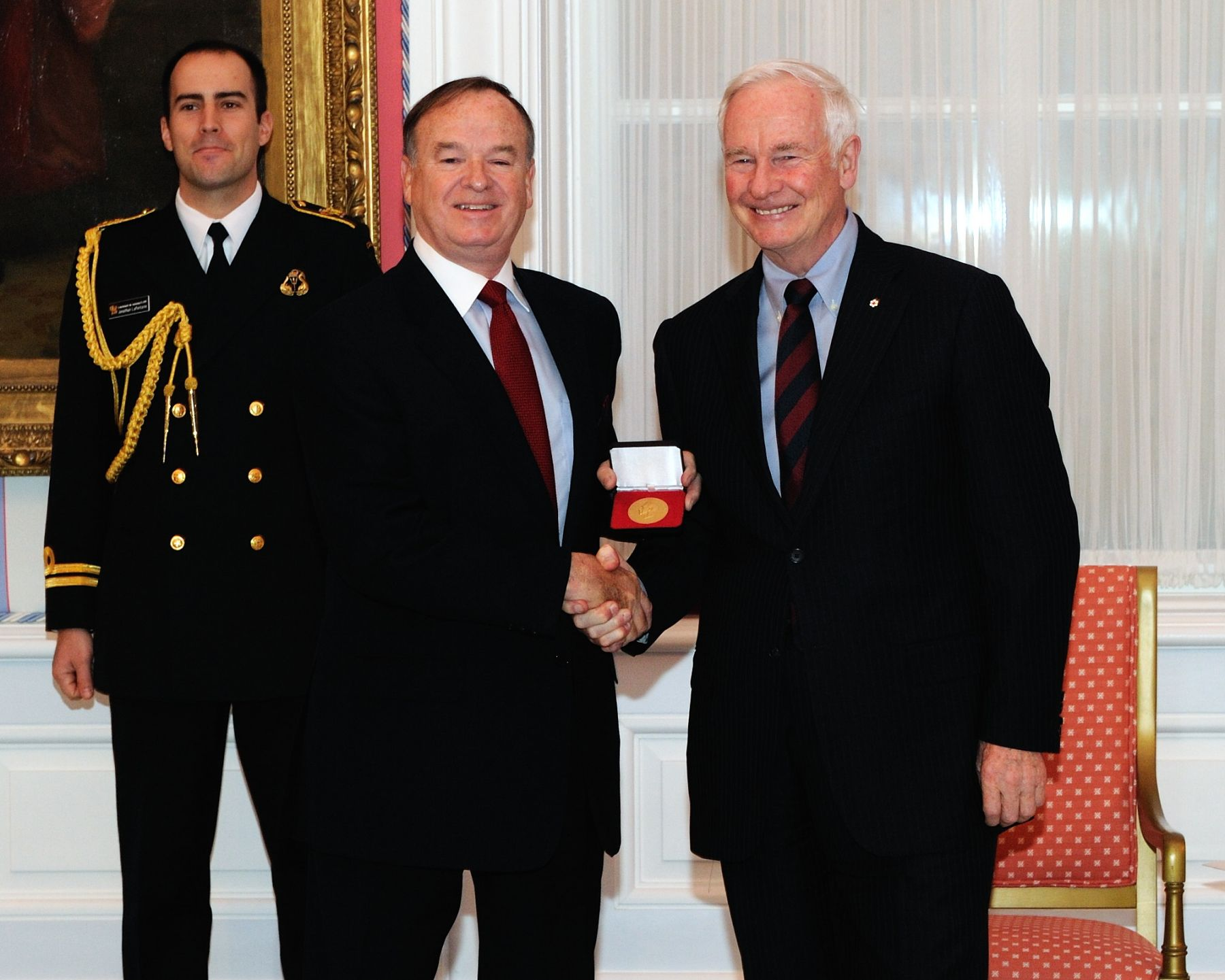 Mr. Davies proudly received the 2010 Vanier Medal from the hands of Governor General David Johnston.