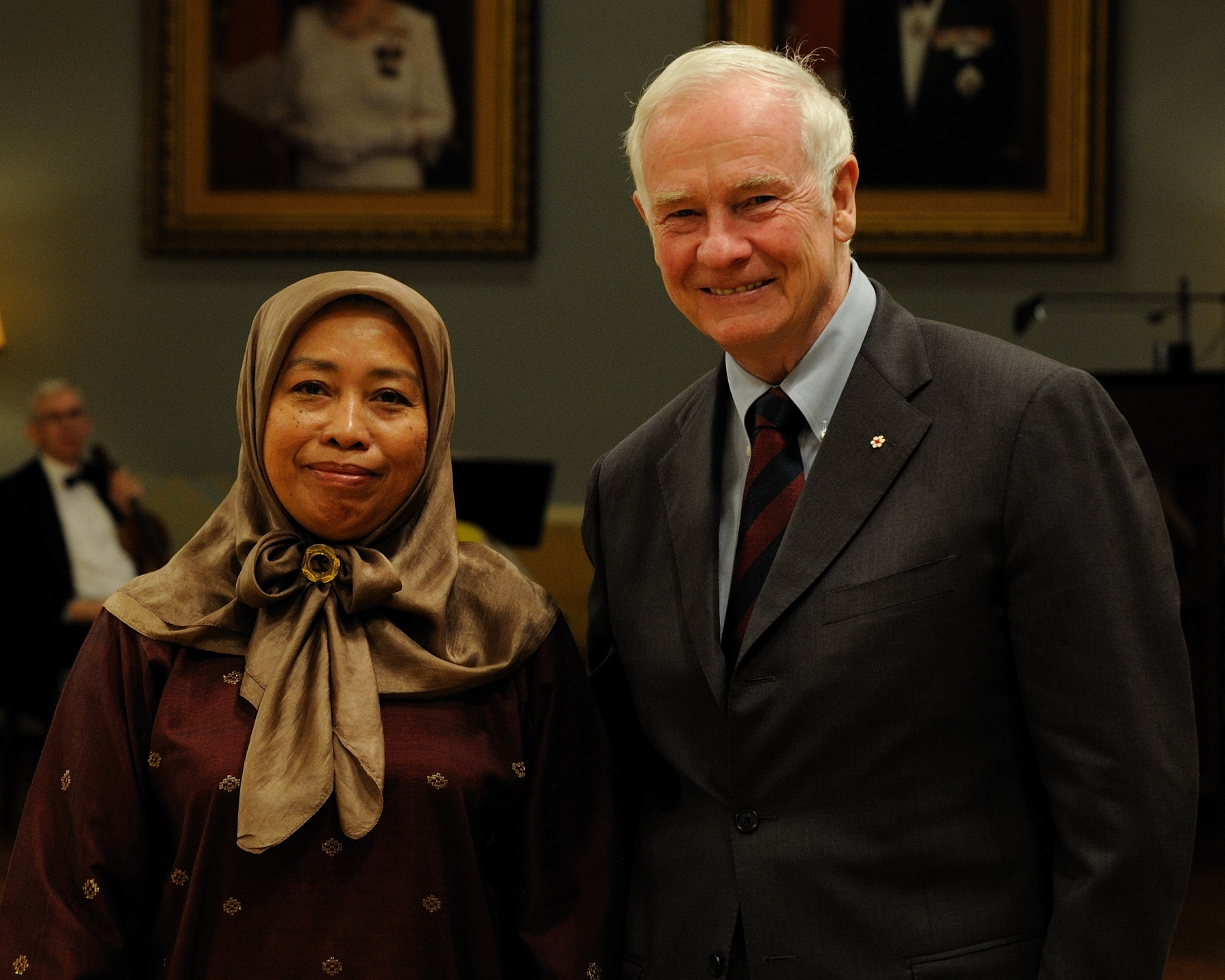 The Governor General received the credentials of Her Excellency Dato' Hayati Binti Ismail, High Commissioner for Malaysia.
