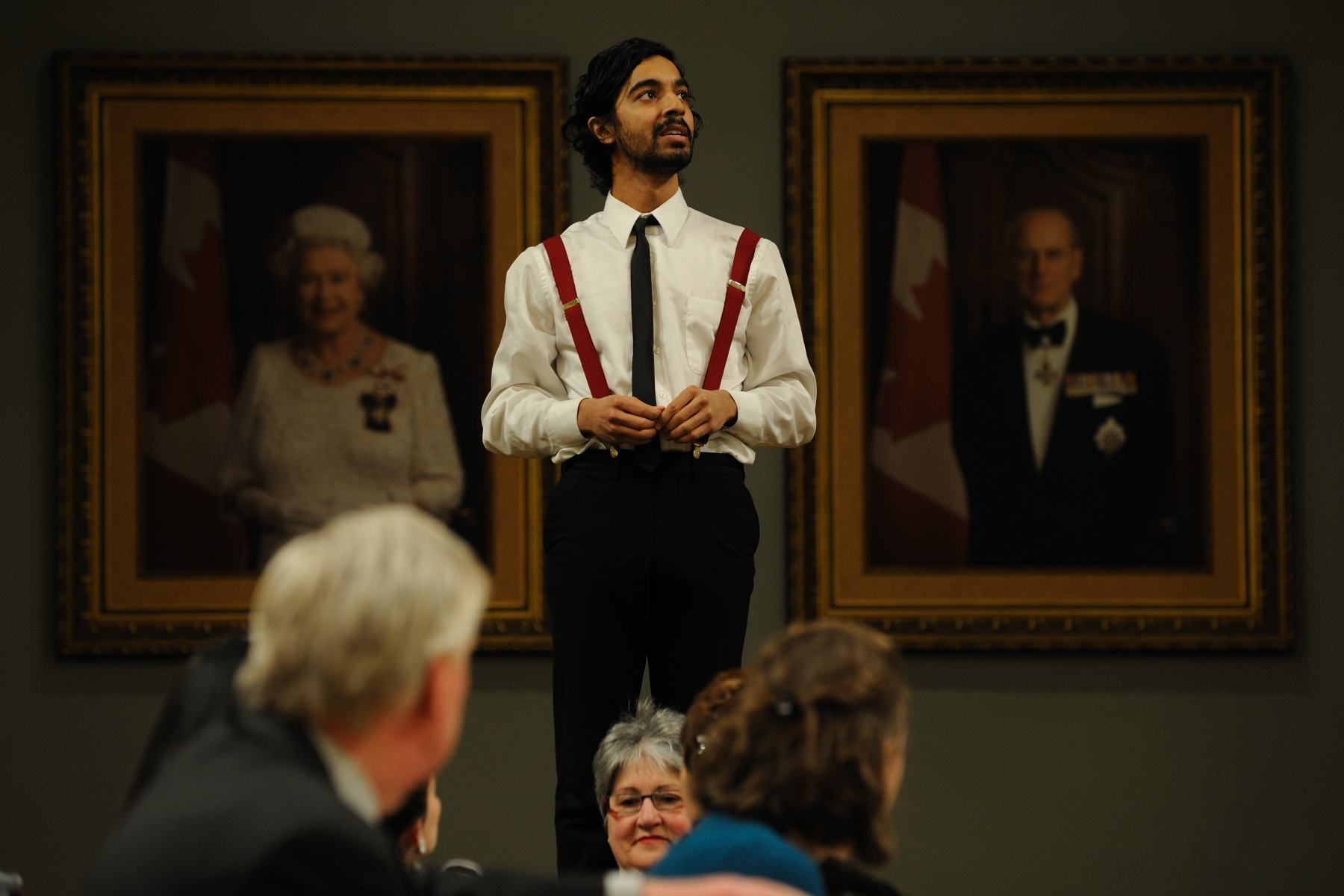 Ishan Davé, third-year English student with the National Theatre School of Canada, performed a monologue.