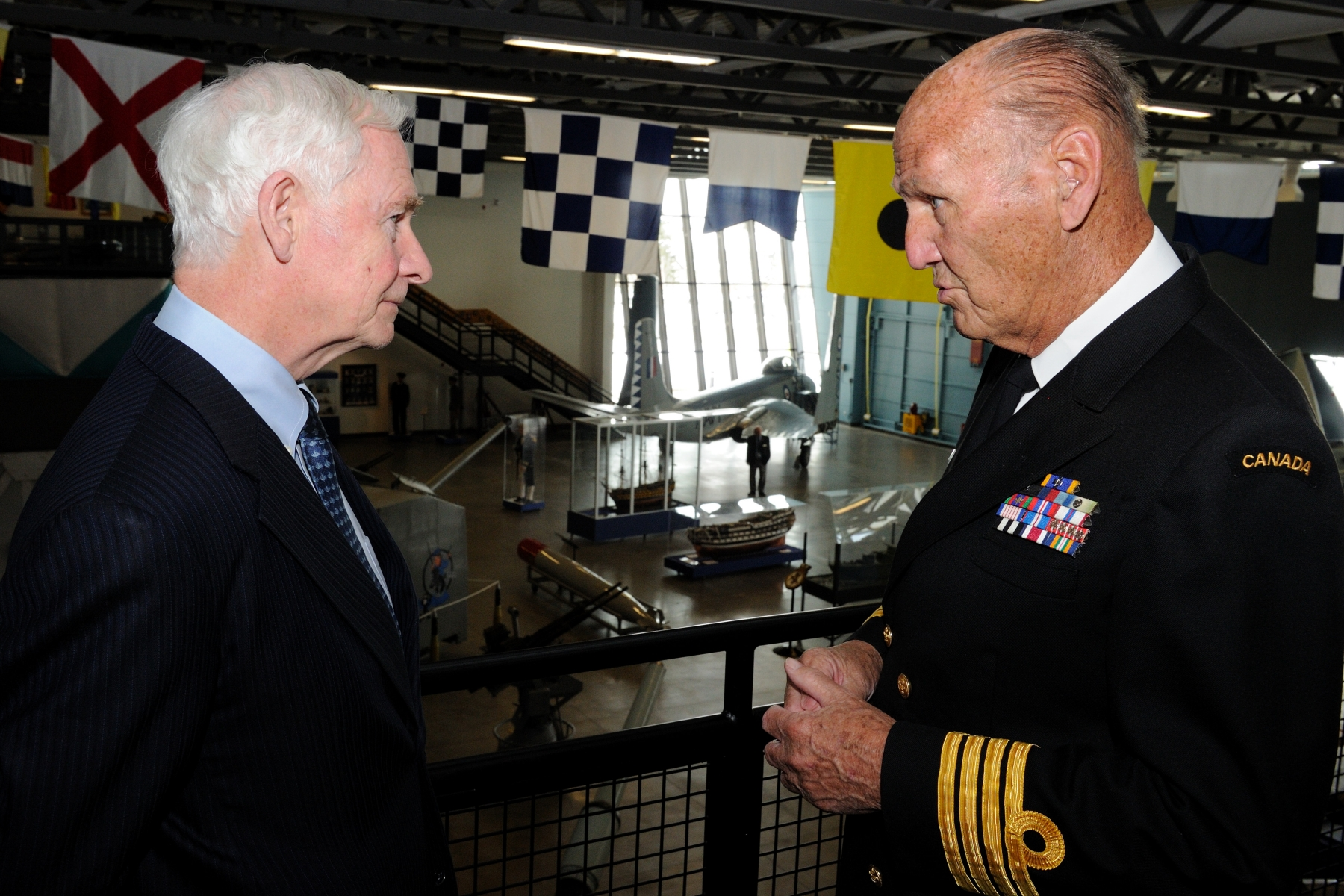 The Governor General and Commander-in-Chief of Canada was also given a tour of The Military Museum's Naval Museum of Alberta, by Honorary Captain (N) Bill Wilson.