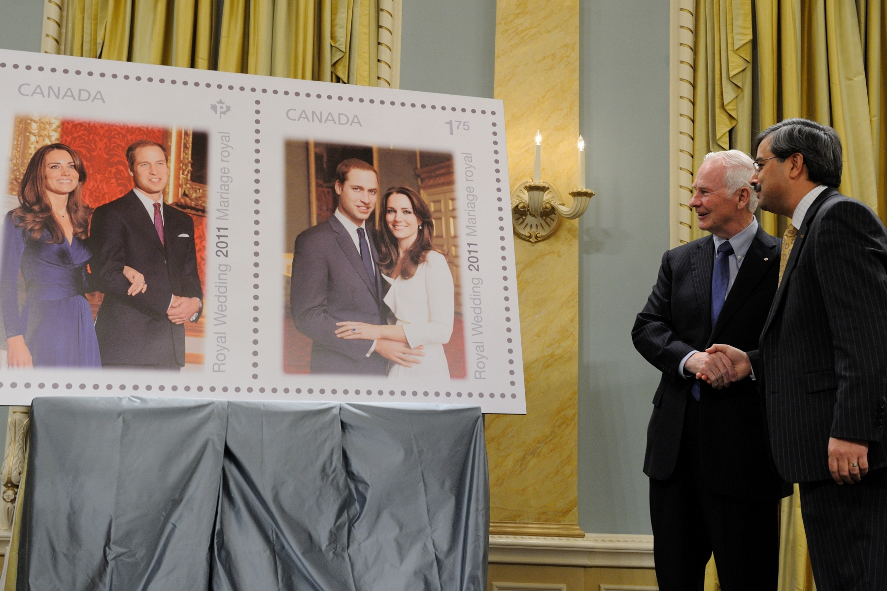 The stamps will be issued on April 29 – the day of the nuptials – and will be available at post offices across Canada.