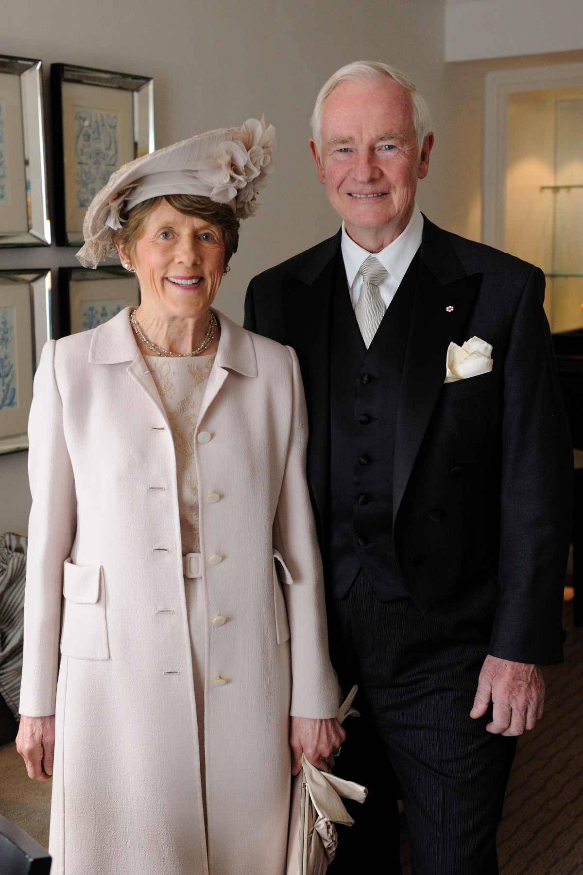 The Governor General wore a grey morning coat by Coppley.