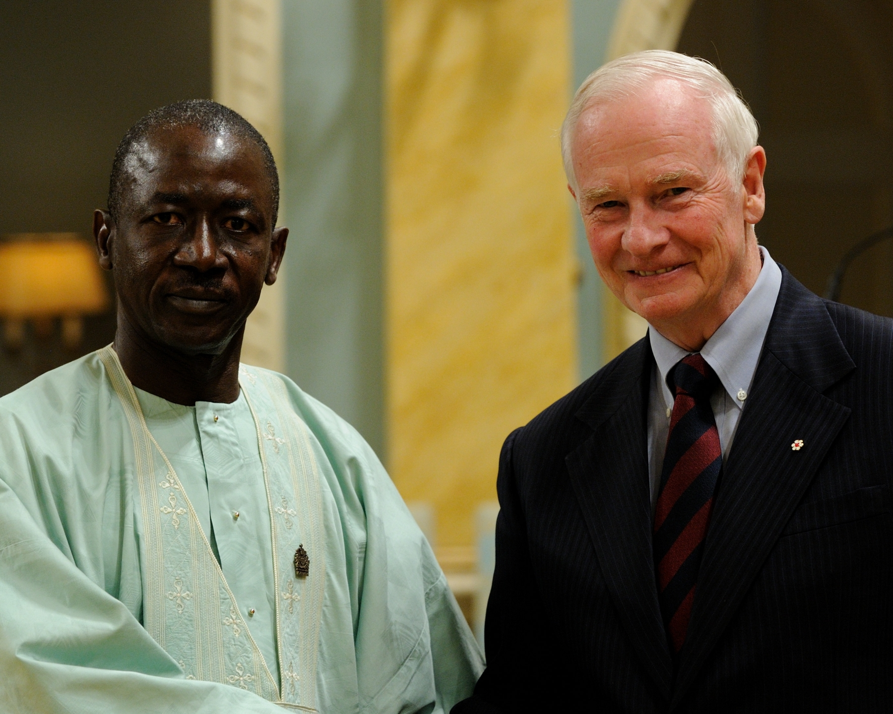 The Governor General received the credentials of His Excellency Alieu Momodou Ngum, 