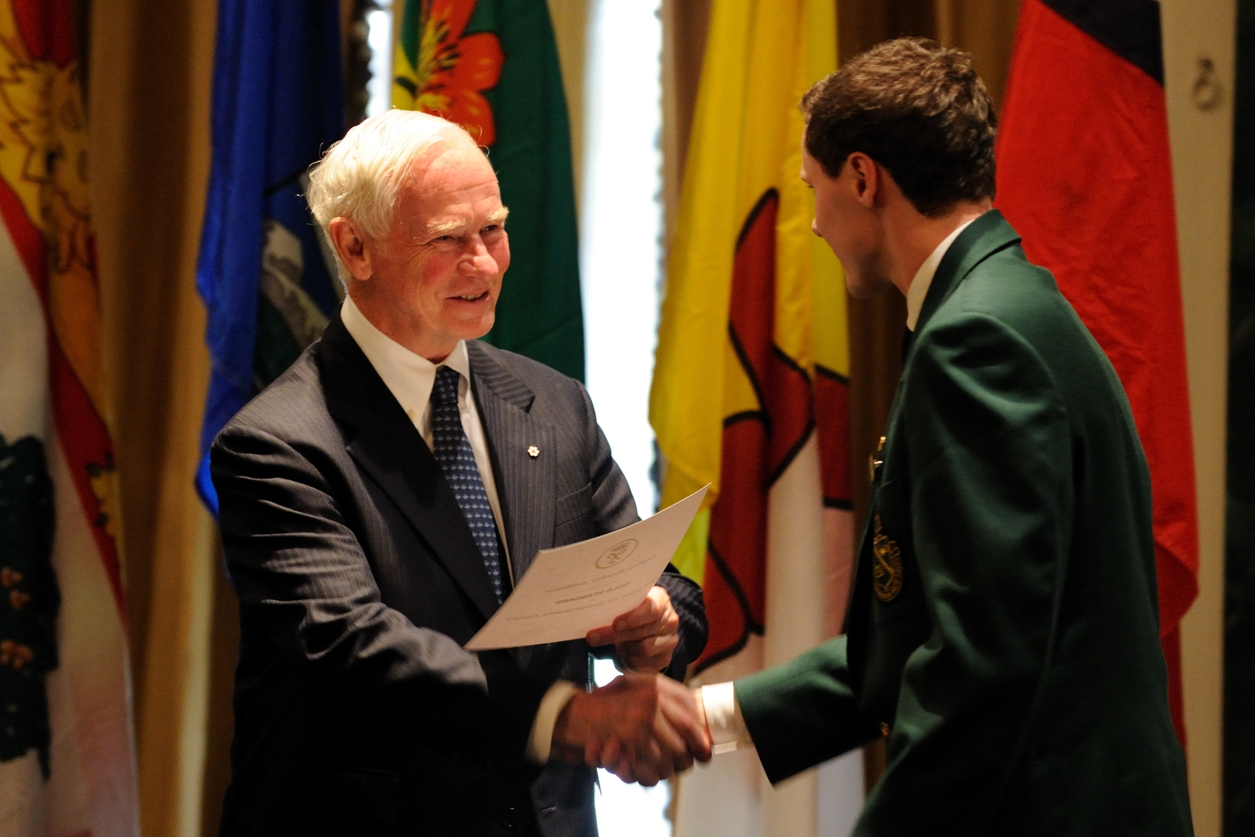 During the visit, the Governor General took the opportunity to present the Duke of Edinburgh Gold Award to approximately 80 youth.