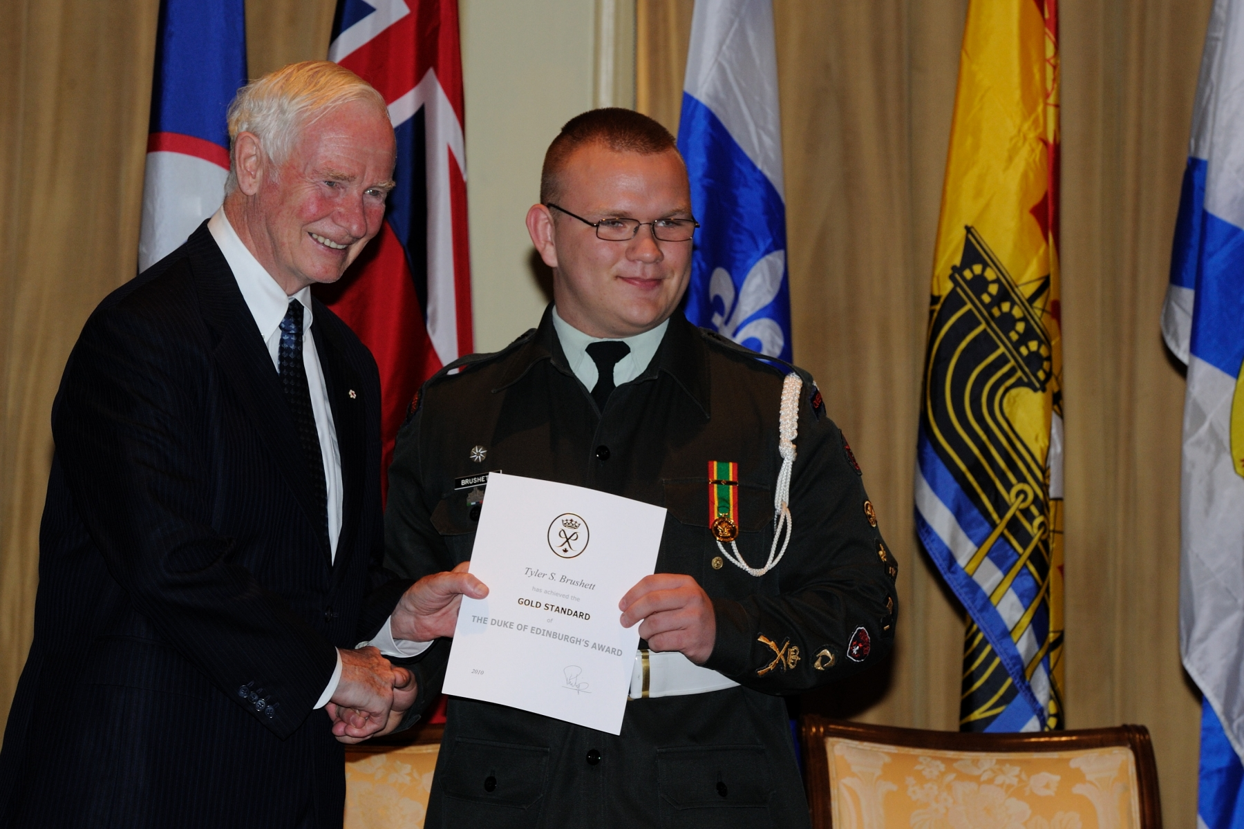 The Duke of Edinburgh Award is a self-development program available to all young people between the ages of 14-25. The award encourages youth to be active, participate in new activities, and to pursue current interests in four different ways: Community Service, Skills Development, Physical Fitness, and Expeditions and Exploration. Gold Award participants must also complete a Residential Project consisting of voluntary service.