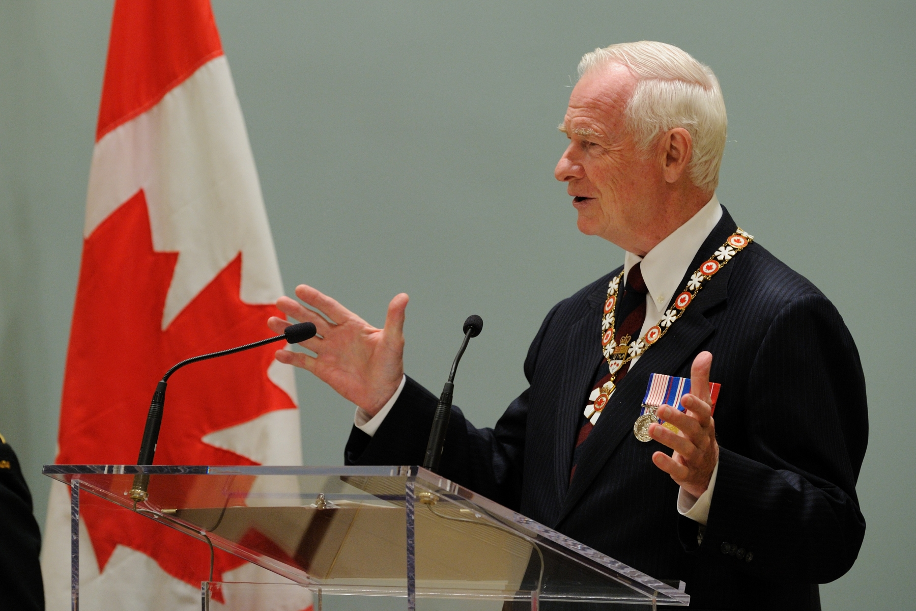 """You are leaders, innovators and givers. You have defined Canadian art, science, politics, sports, business and so much more. And because of this, because you have proven yourselves on the national and international stage, you are being invested into the Order of Canada, and joining others who have helped us to define what it means to be Canadian"", said the Governor General while presiding over the Order of Canada investiture ceremony at Rideau Hall."