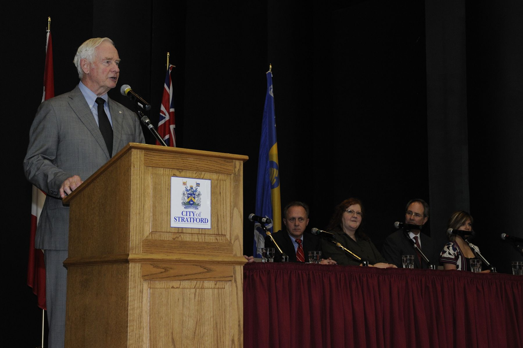 """As governor general, I am committed to doing all I can to shape Canada into a smarter, more caring nation. A nation that helps families and children succeed. A nation that strengthens learning opportunities and fosters innovation. A nation that values volunteerism and philanthropy. A nation that dares to dream about a better future for all Canadians today, and the next generation tomorrow,"" said the Governor General."