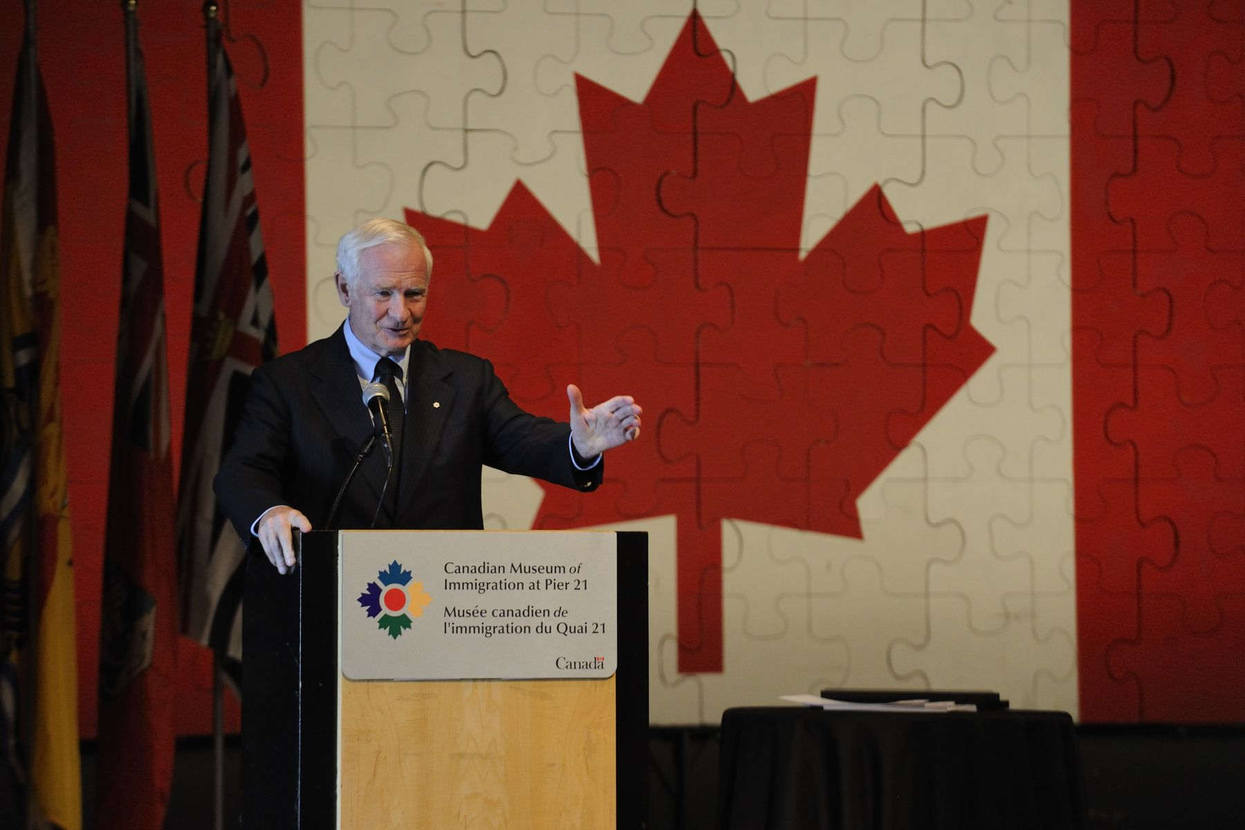 "The Governor General delivered an address on this occasion: ""As recipients of this Award, you are joining the multitude who passed through Pier 21 to make a lasting difference in our country. Just as many of them did, you are demonstrating that you can dream big dreams. That you can set lofty goals. That you are ready to challenge yourselves, and to take initiative and responsibility for your successes. That you have what it takes to persevere when times get tough. That you care enough to give back to your communities, your country and your world."""