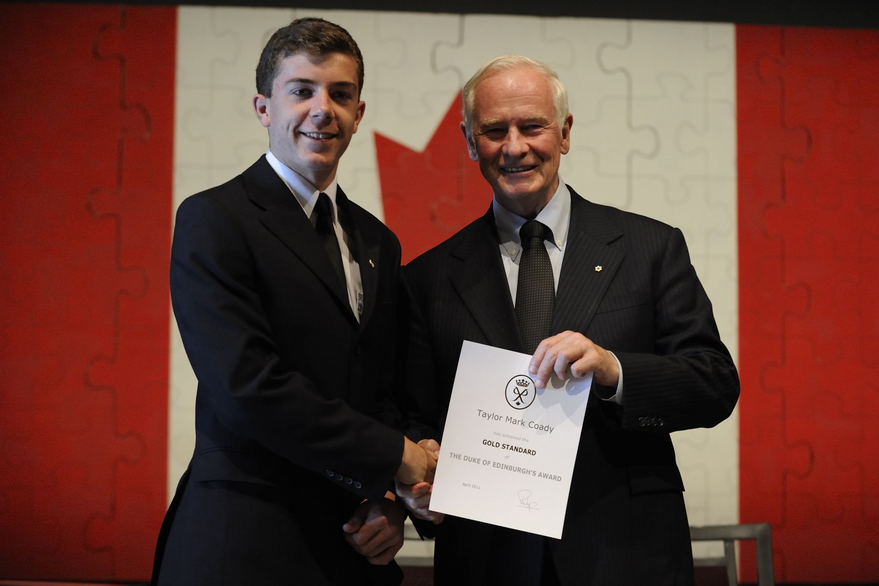 The Duke of Edinburgh Award is a self-development program available to all young people between the ages of 14-25. The award encourages youth to be active, to participate in new activities, and to pursue current interests in four different ways: Community Service, Skills Development, Physical Fitness, and Expeditions and Exploration.